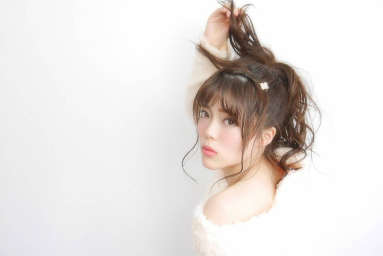 ピュア 愛され モテ髪 ヘアアレンジヘアスタイルや髪型の写真・画像