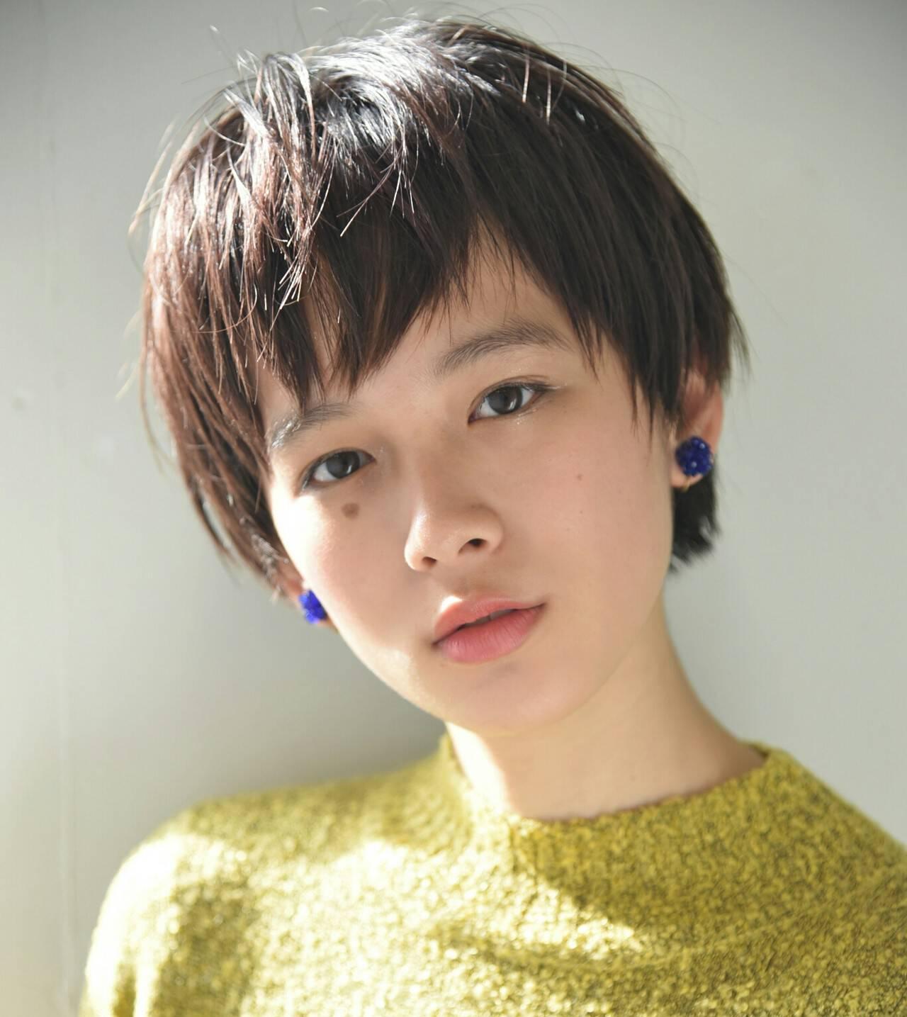 外国人風 アッシュ ベリーショート ショートヘアスタイルや髪型の写真・画像