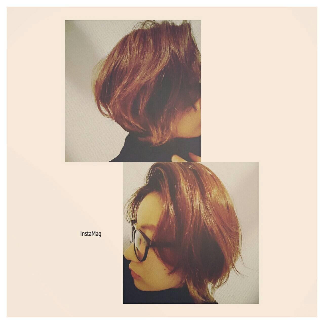 前髪あり ショートボブ 外ハネ ゆるふわヘアスタイルや髪型の写真・画像