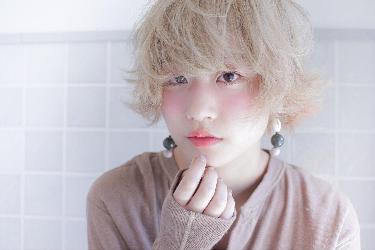 おフェロ ショートボブ ショート 透明感ヘアスタイルや髪型の写真・画像