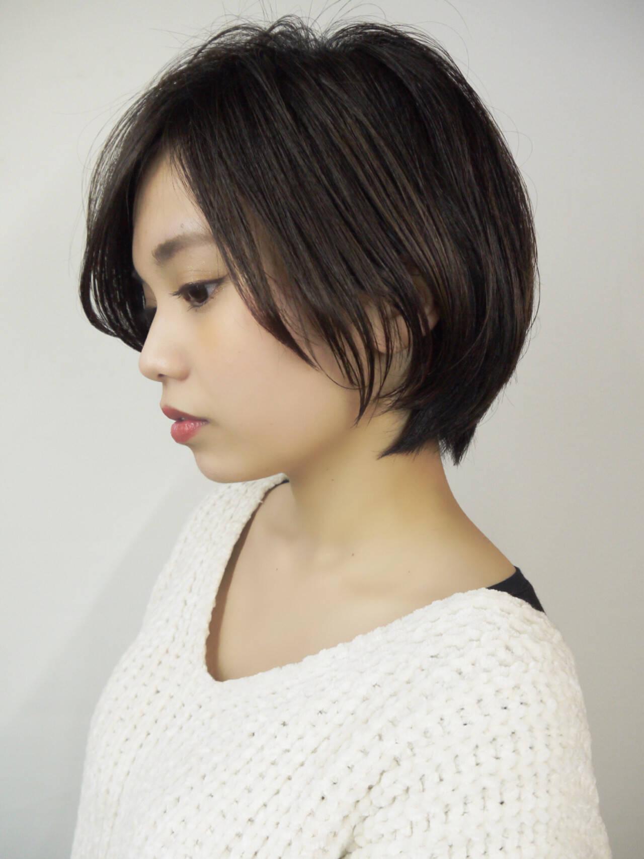 色気 ボブ 抜け感 ナチュラルヘアスタイルや髪型の写真・画像