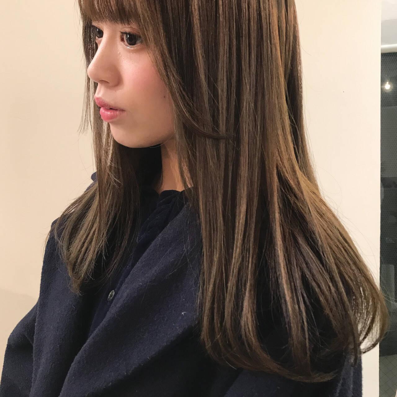 ナチュラル ロング 透明感カラー オーガニックヘアスタイルや髪型の写真・画像