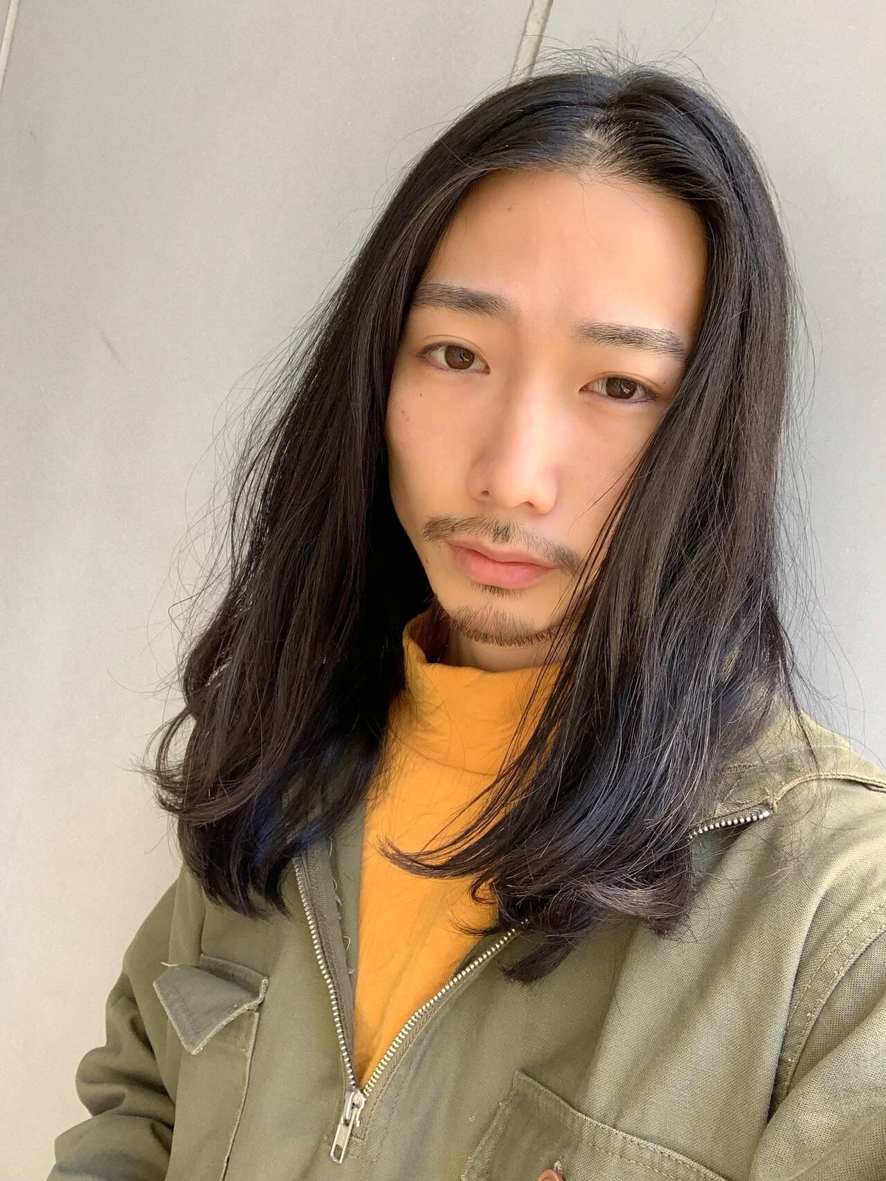 メンズカット ナチュラル 黒髪 メンズヘアヘアスタイルや髪型の写真・画像