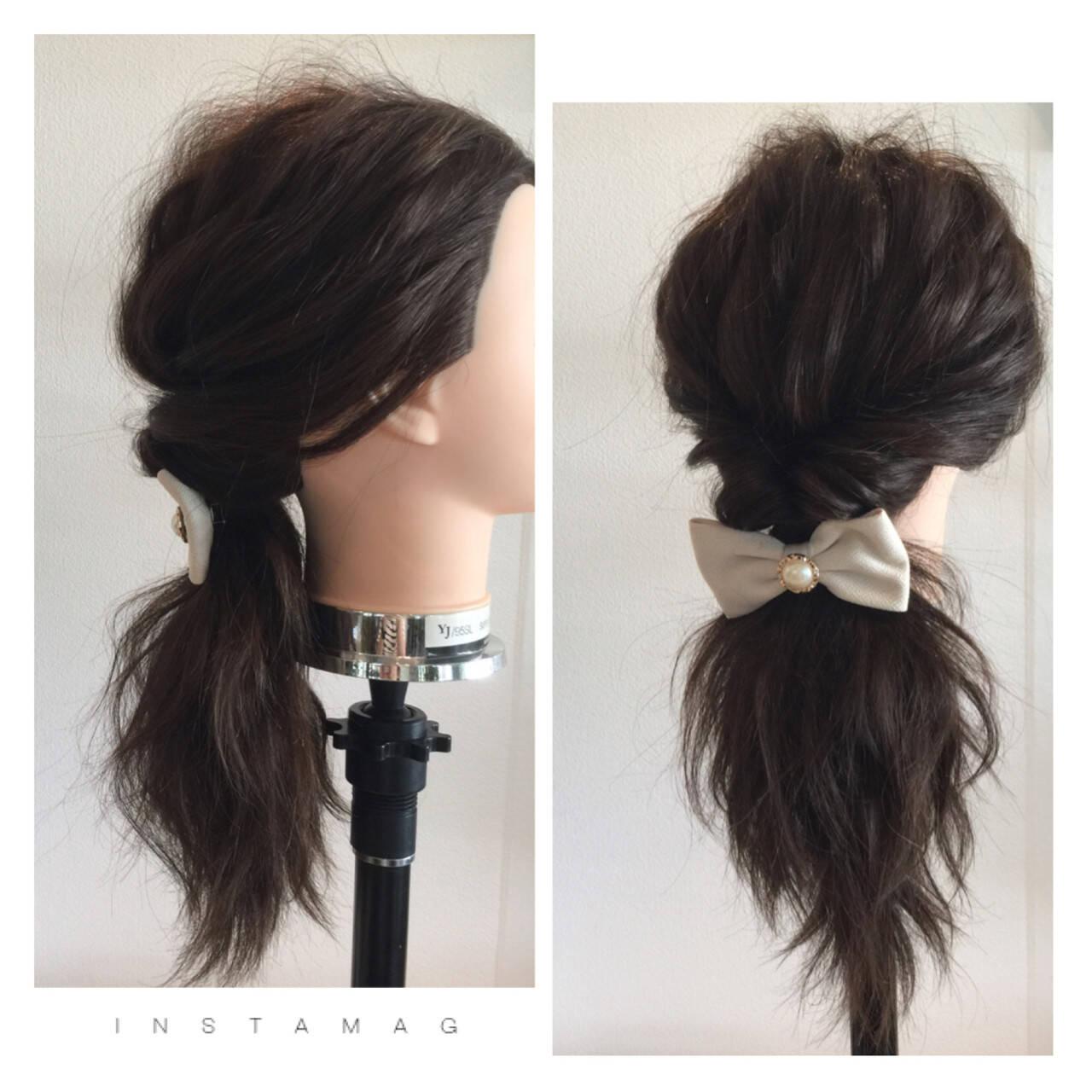 波ウェーブ ロング ヘアアレンジ ショートヘアスタイルや髪型の写真・画像