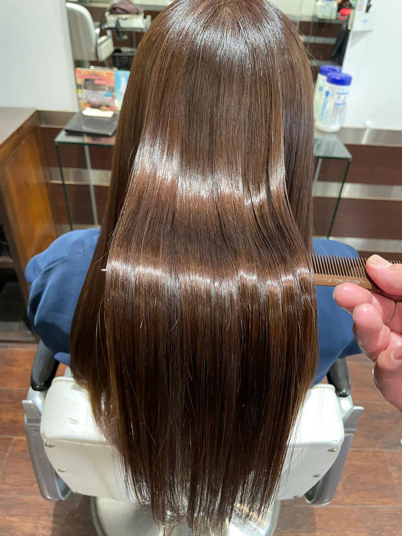 髪質改善 トリートメント ロング 髪質改善トリートメントヘアスタイルや髪型の写真・画像