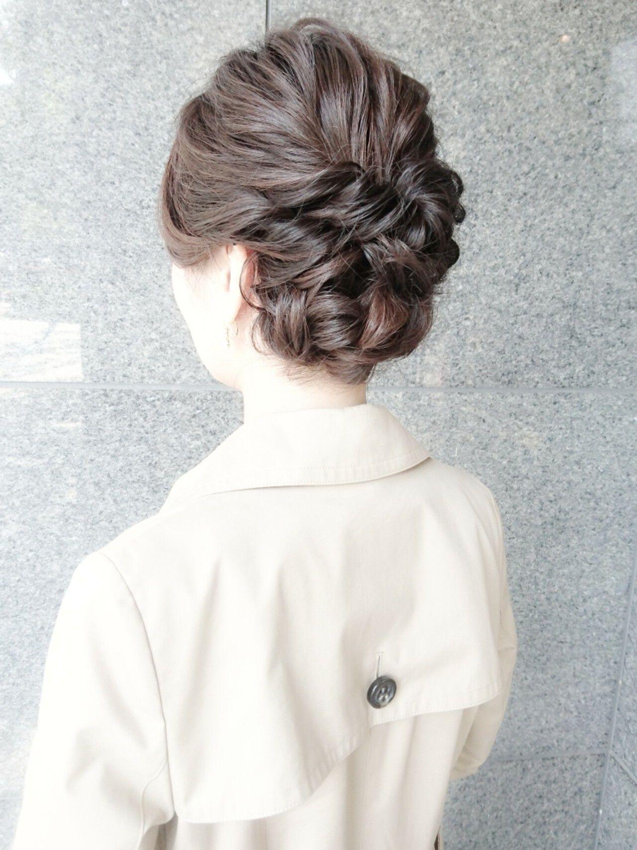 ロング ヘアアレンジ ハーフアップ ショートヘアスタイルや髪型の写真・画像