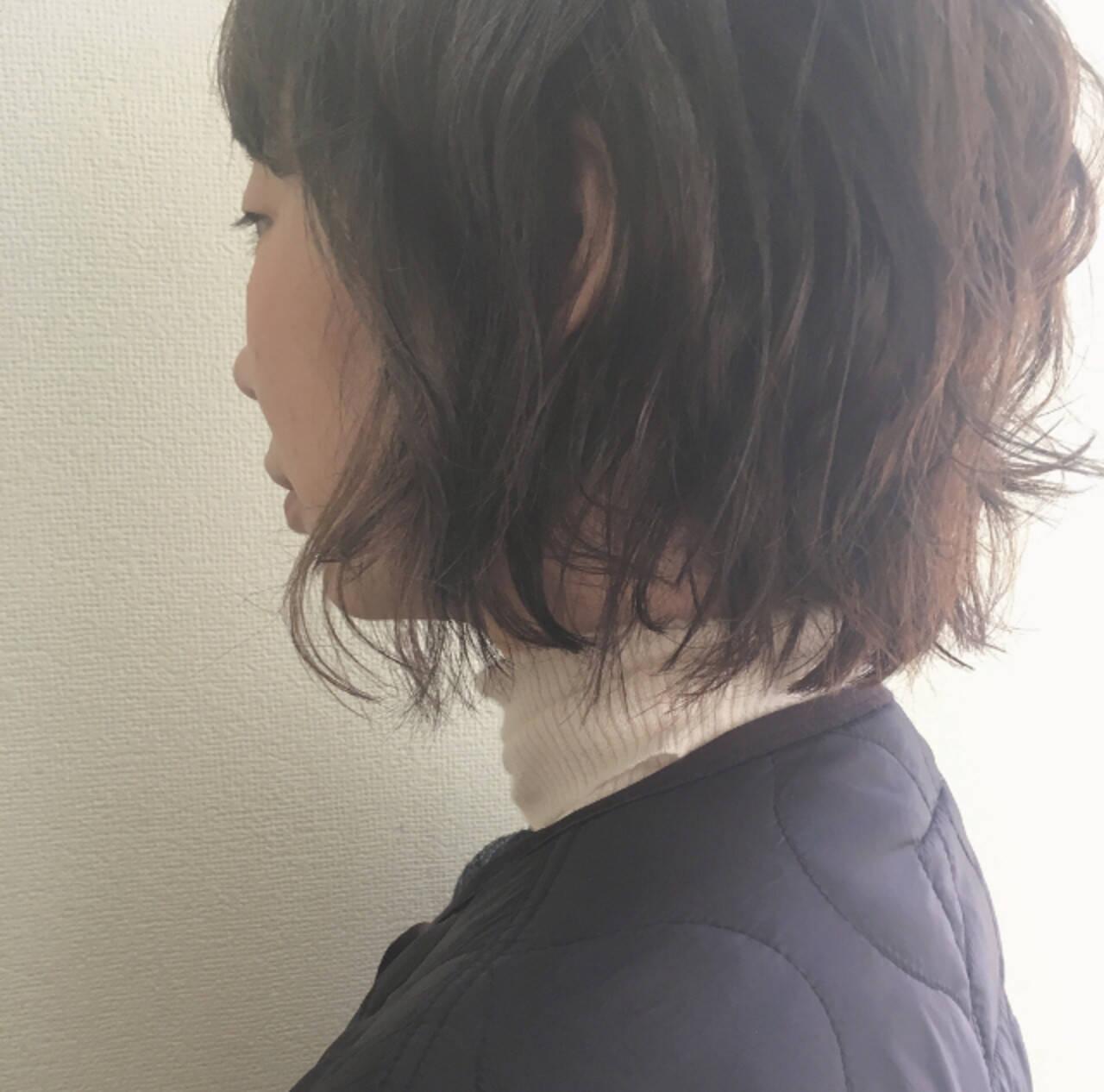 ボブアレンジ 大人かわいい ナチュラル デートヘアスタイルや髪型の写真・画像