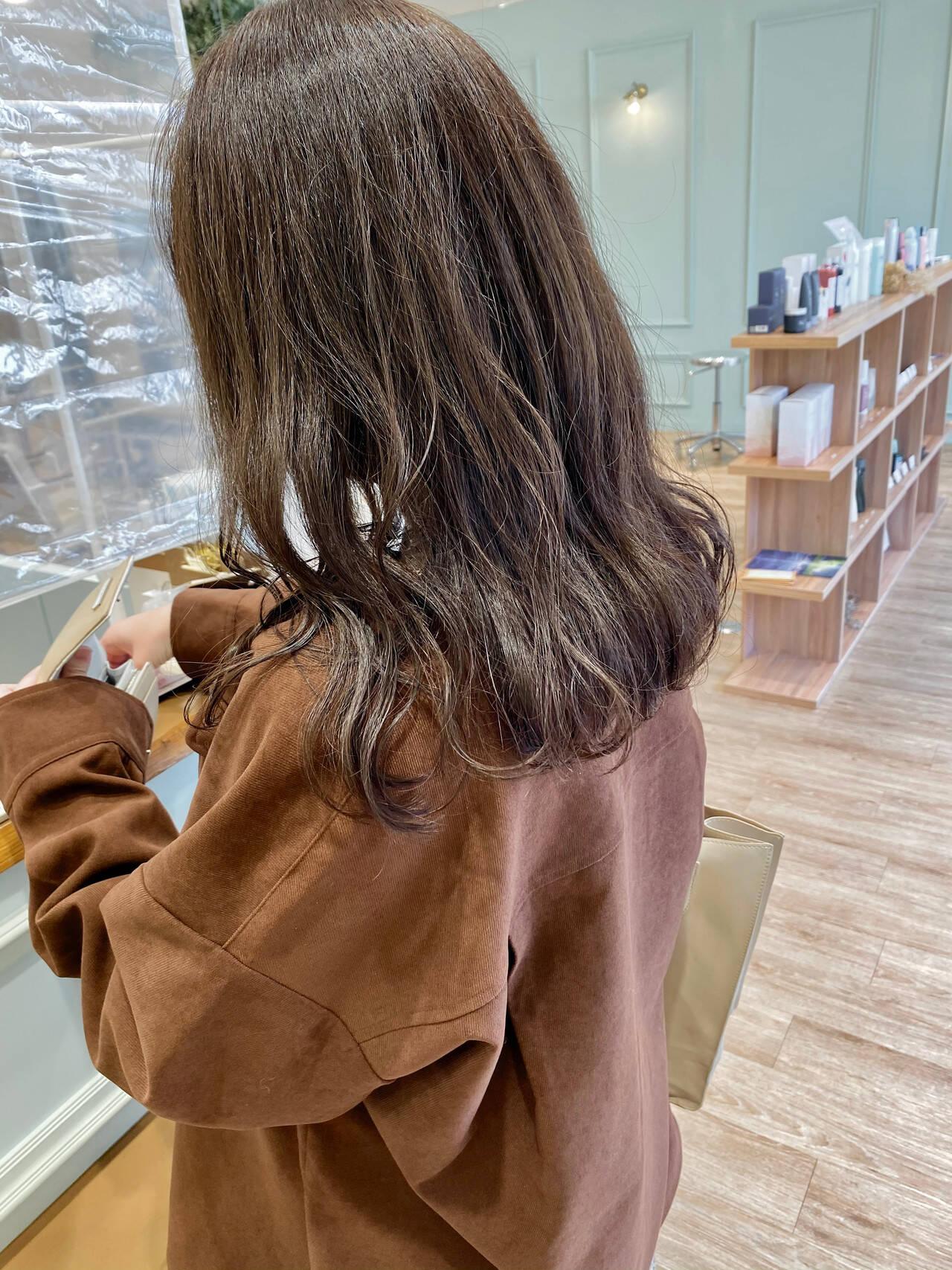 透け感ヘア モテ髪 韓国ヘア フェミニンヘアスタイルや髪型の写真・画像