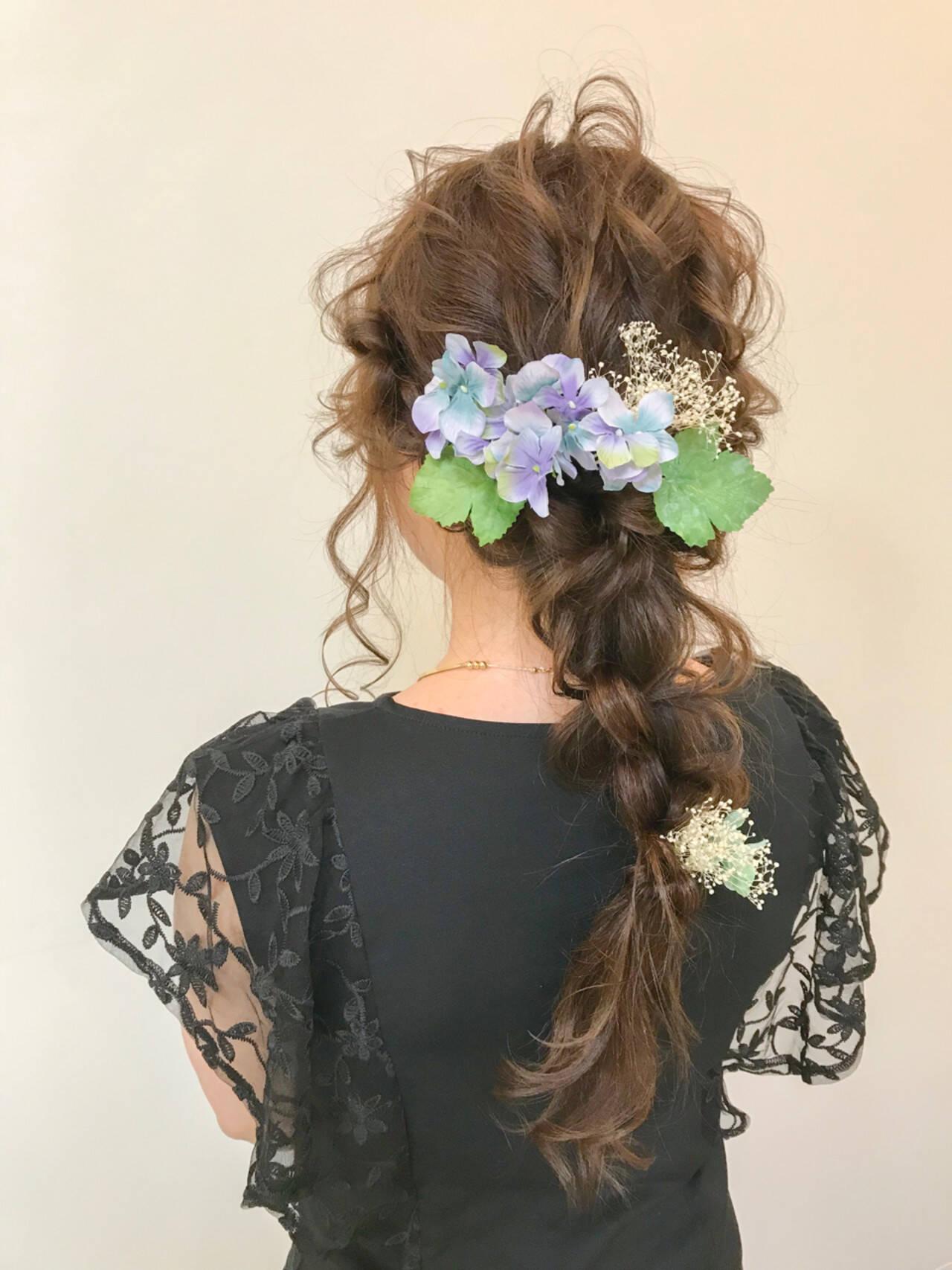 上品 結婚式 成人式 ロングヘアスタイルや髪型の写真・画像