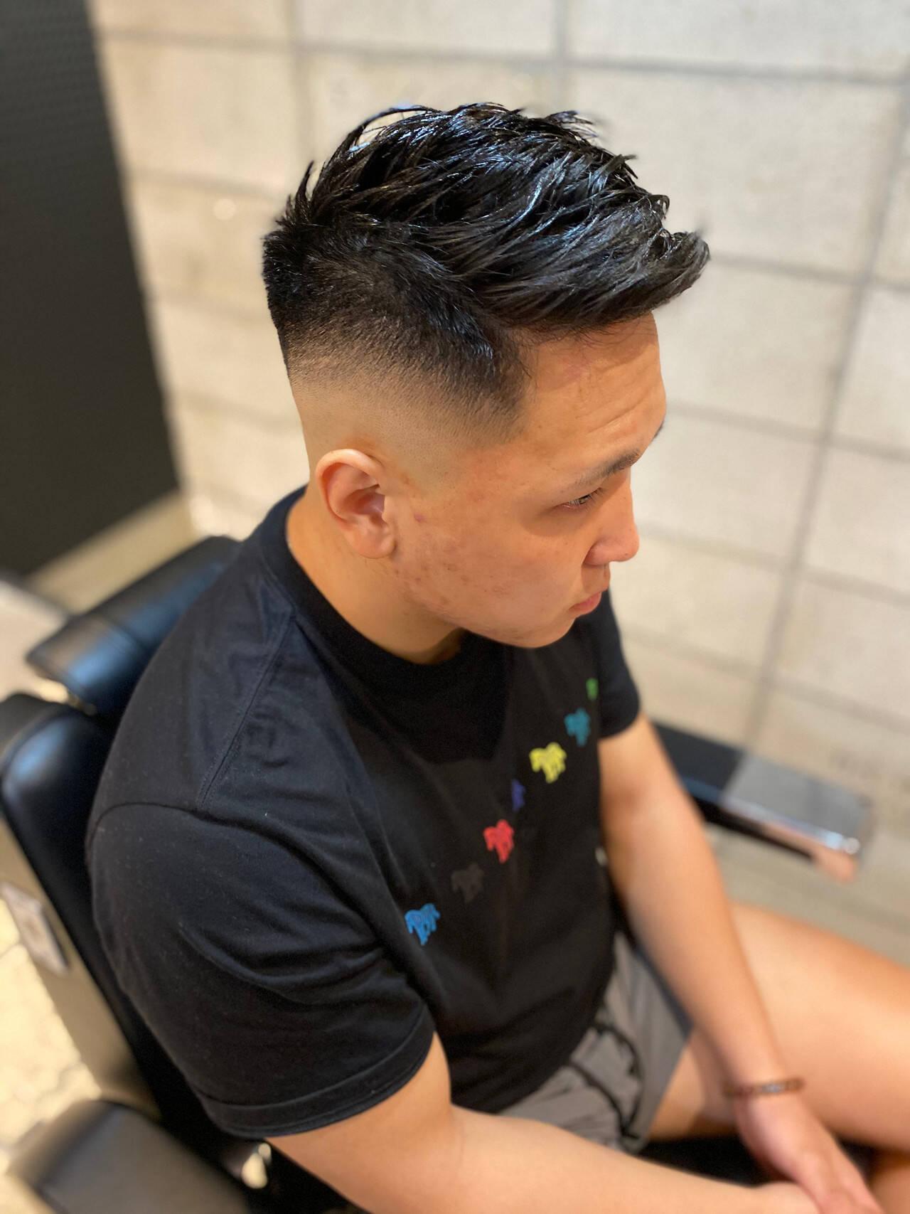 フェードカット スキンフェード ストリート ベリーショートヘアスタイルや髪型の写真・画像