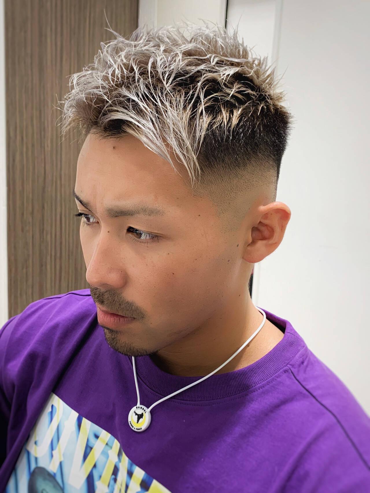 ストリート スキンフェード フェードカット 刈り上げショートヘアスタイルや髪型の写真・画像