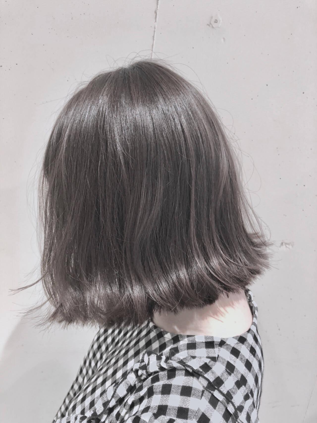 ボブ グラデーションカラー ゆるふわ 外国人風カラーヘアスタイルや髪型の写真・画像