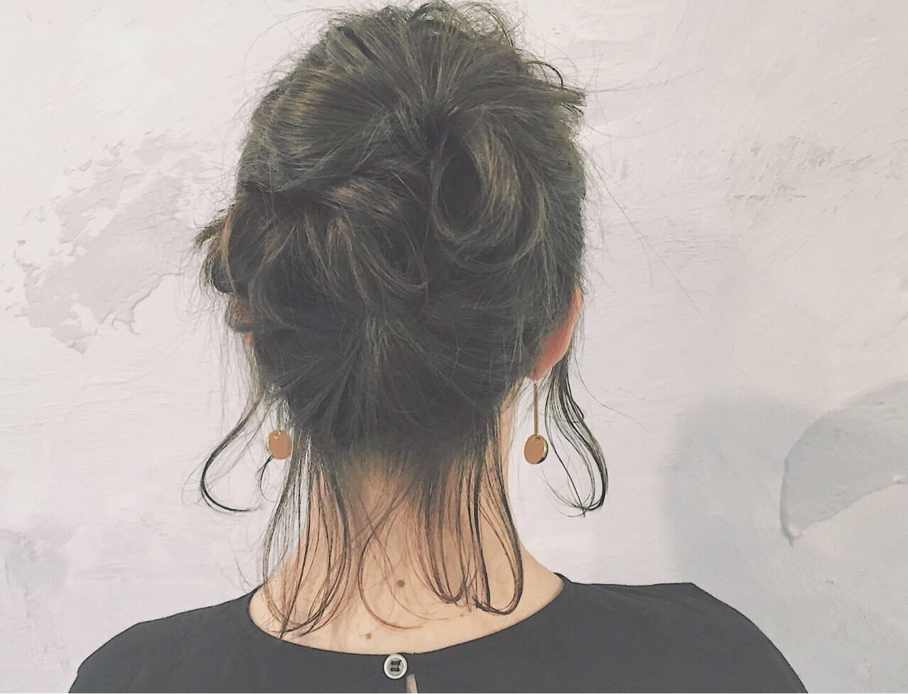 アッシュ ボブ ショート ナチュラルヘアスタイルや髪型の写真・画像