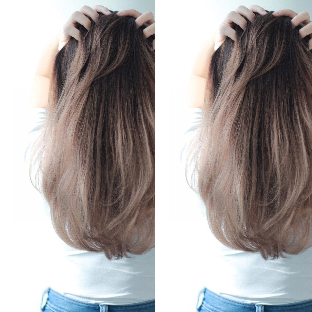 グラデーションカラー ストリート 大人かわいい ロングヘアスタイルや髪型の写真・画像
