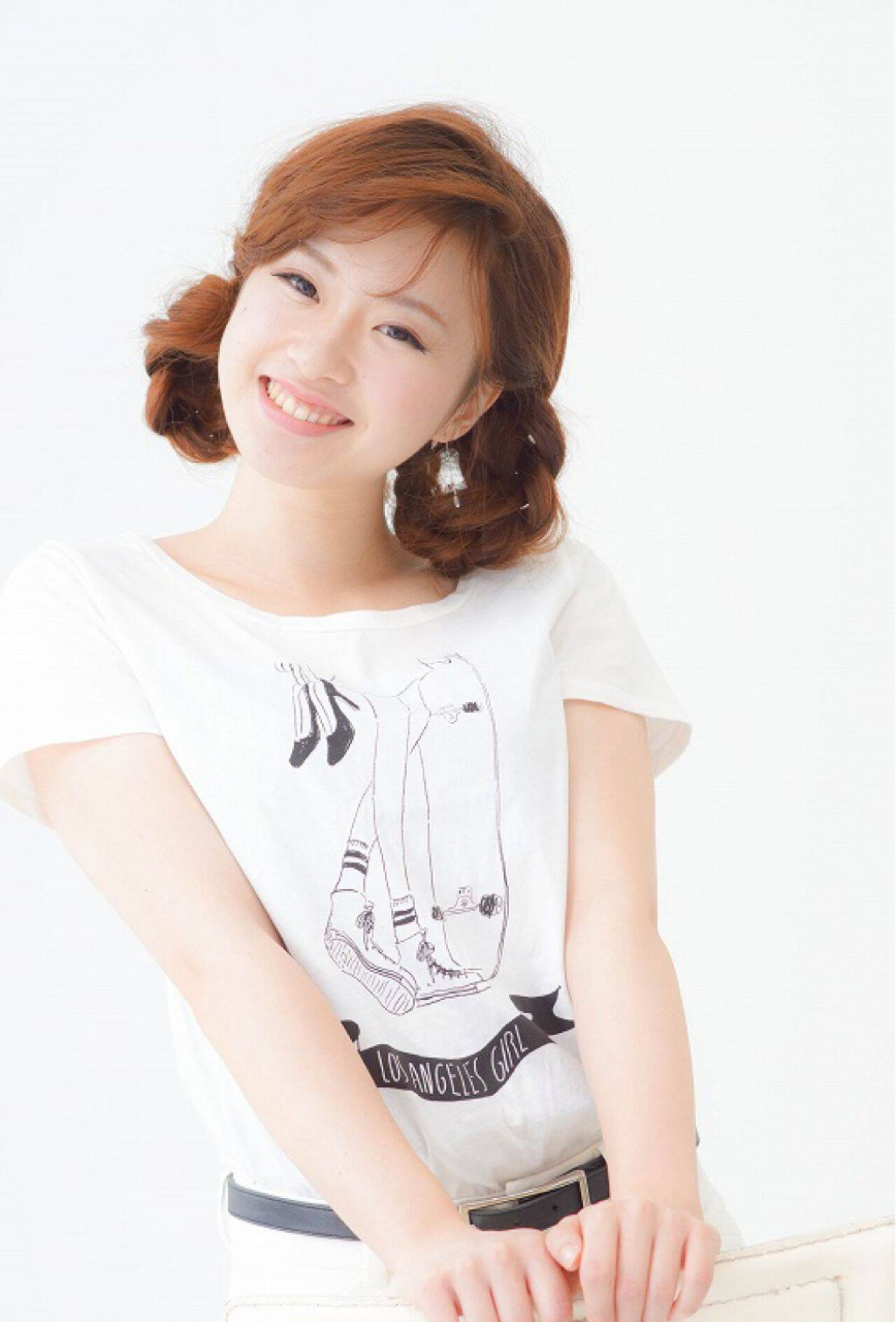 ガーリー 愛され ヘアアレンジ 三つ編みヘアスタイルや髪型の写真・画像