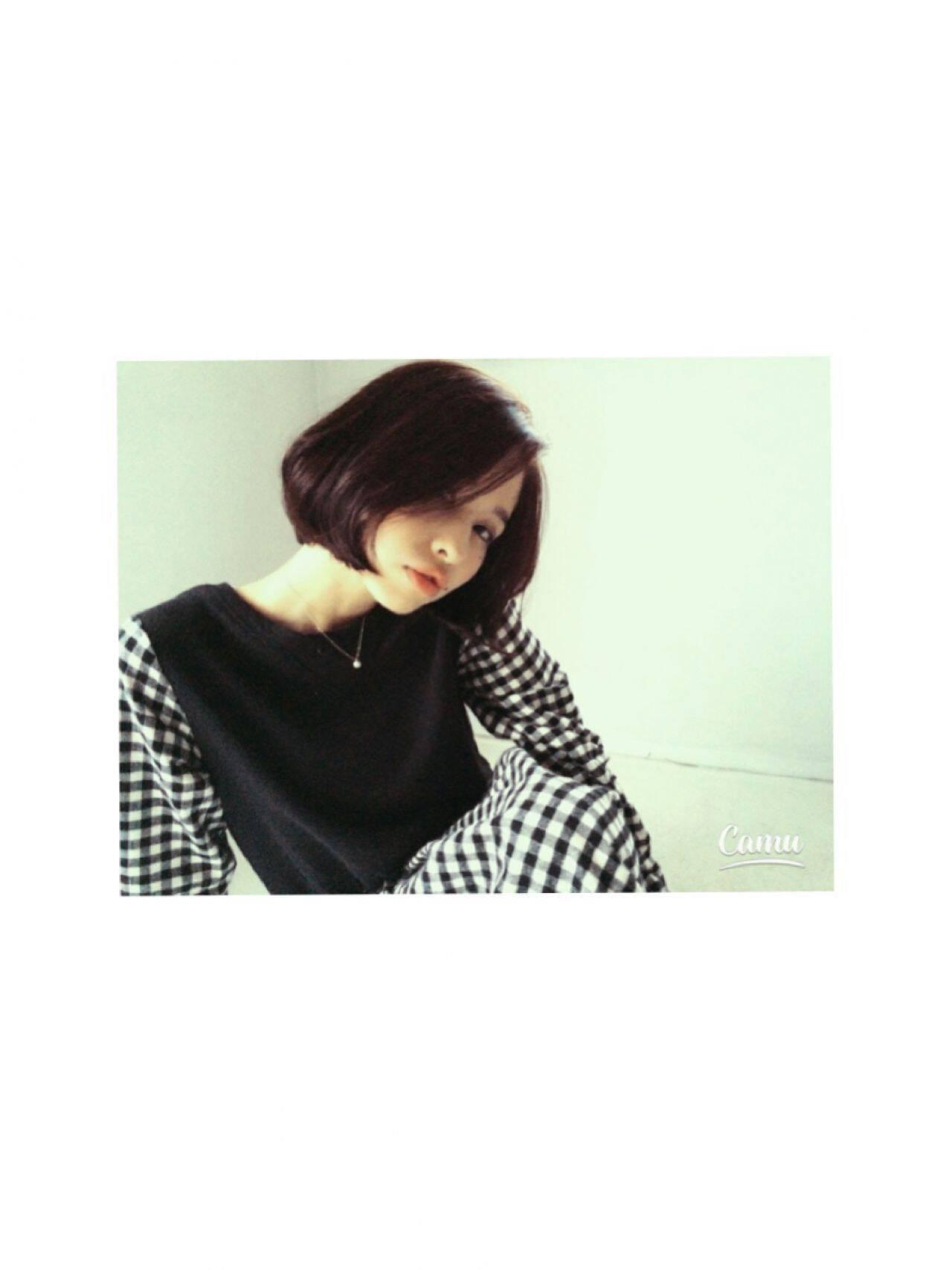 秋 モテ髪 ボブ ストレートヘアスタイルや髪型の写真・画像