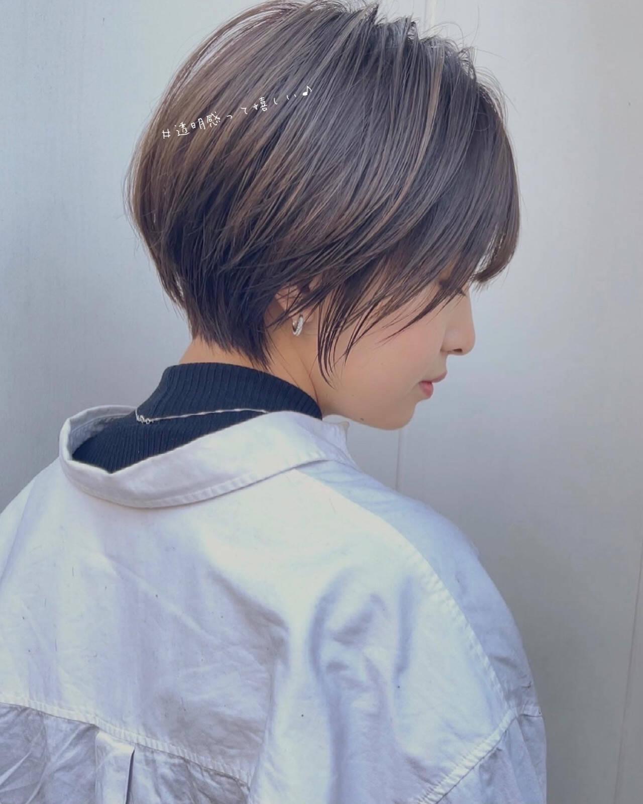ミニボブ ショートボブ フェミニン ショートヘアヘアスタイルや髪型の写真・画像