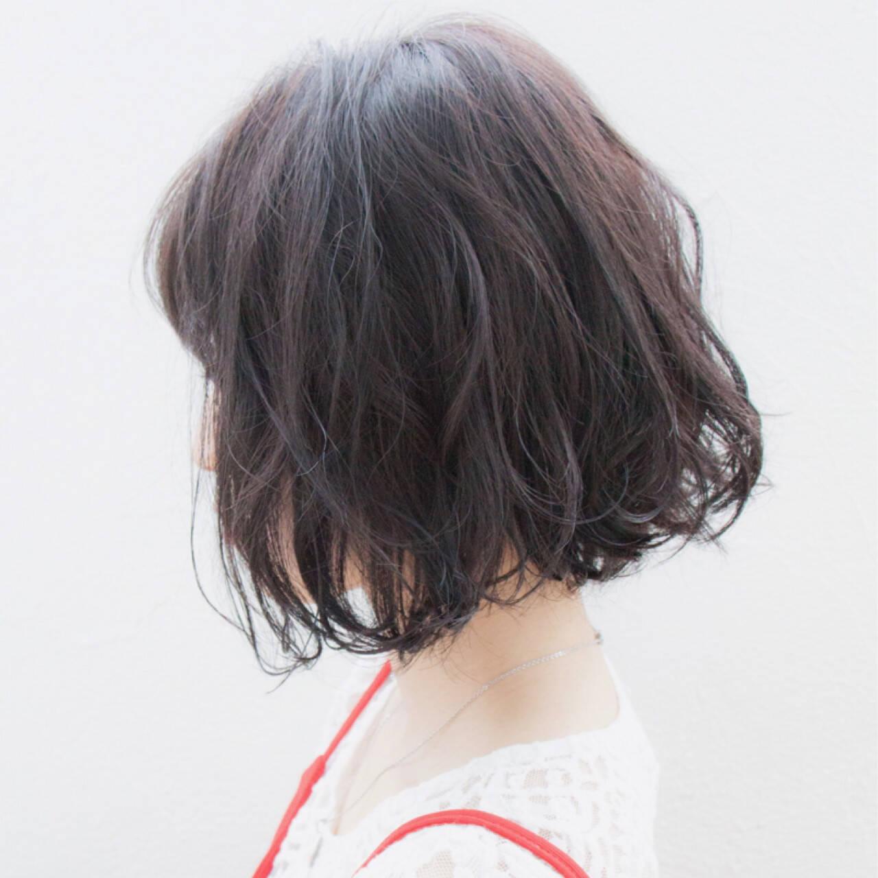 ヘアアレンジ ボブ ゆるふわ 大人かわいいヘアスタイルや髪型の写真・画像