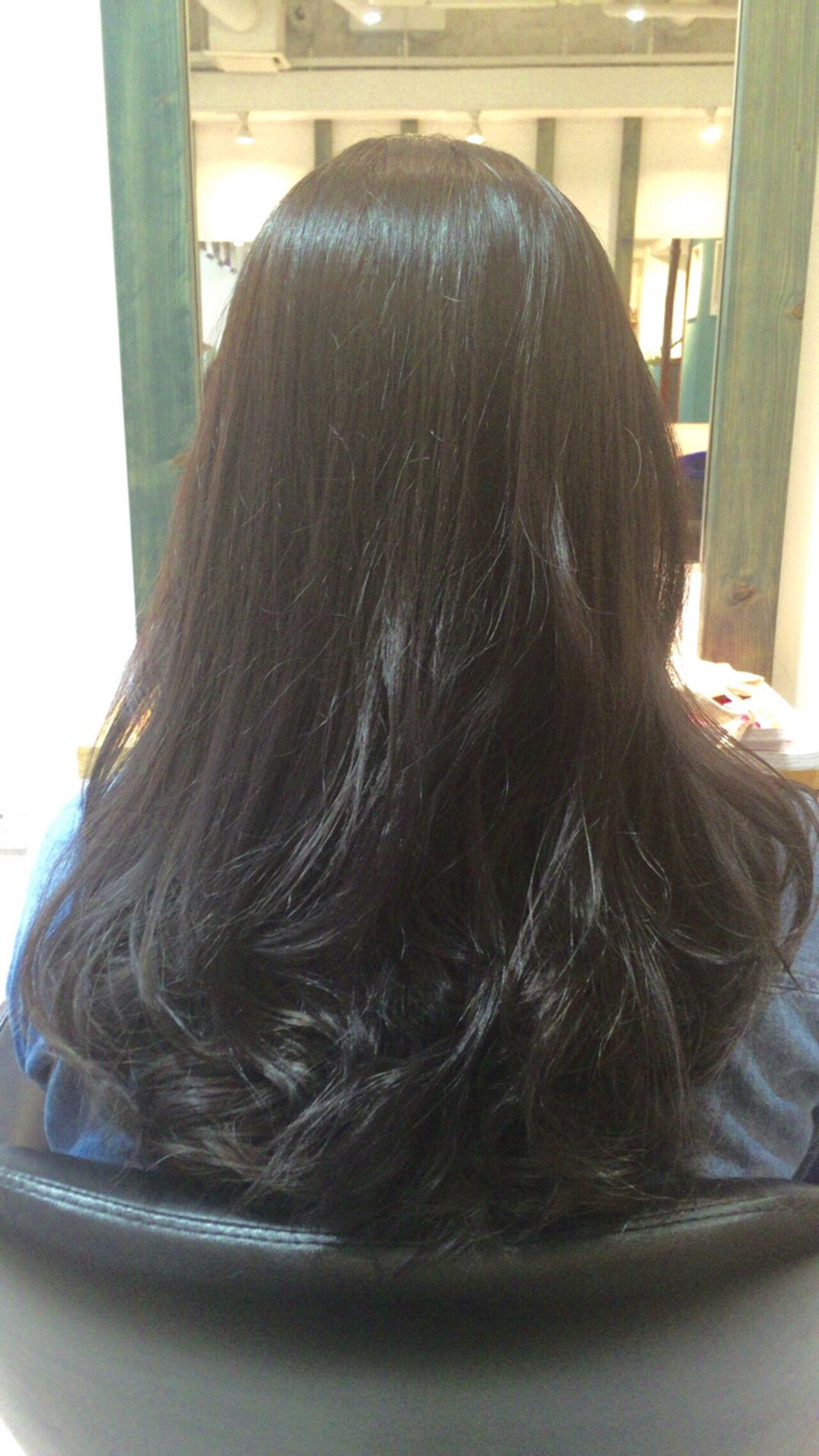 アッシュ ロング ガーリー 外国人風ヘアスタイルや髪型の写真・画像