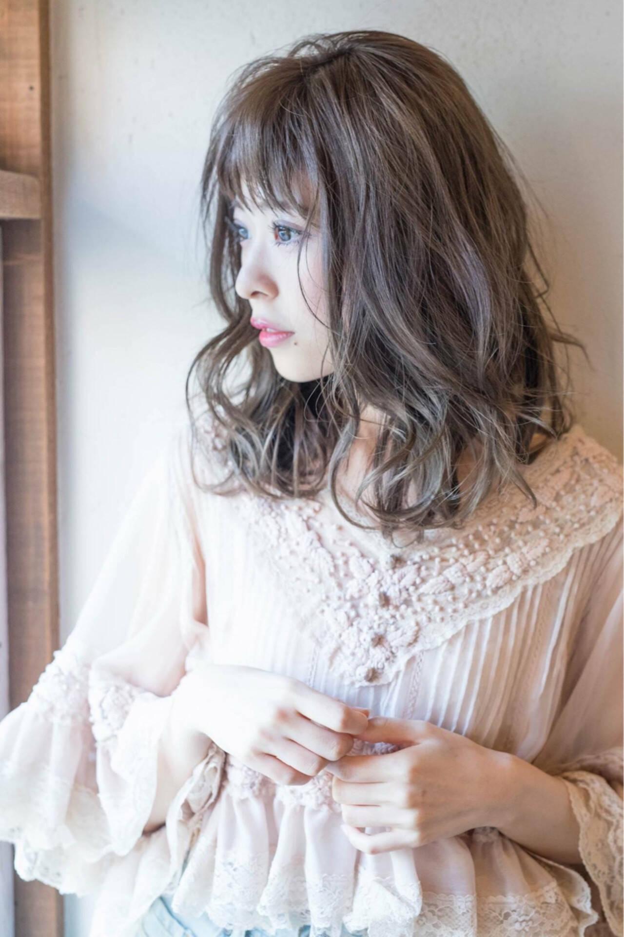 透明感 秋 フェミニン 大人女子ヘアスタイルや髪型の写真・画像