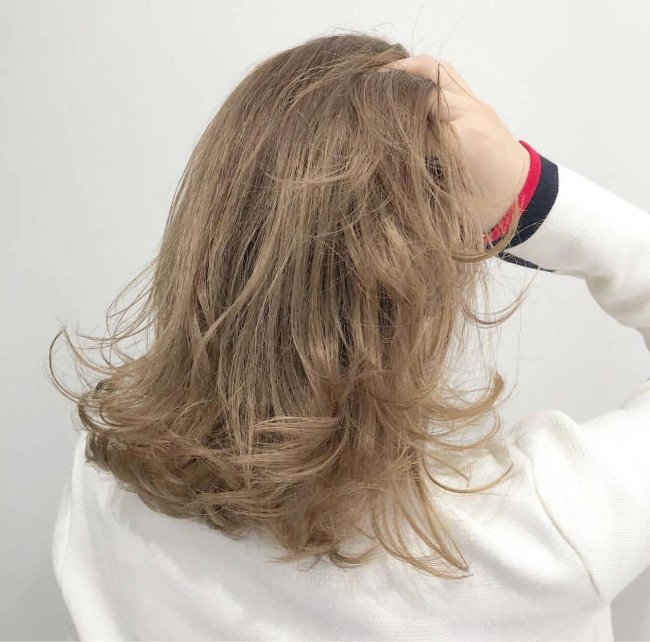グラデーションカラー 外国人風カラー ストリート ミディアムヘアスタイルや髪型の写真・画像