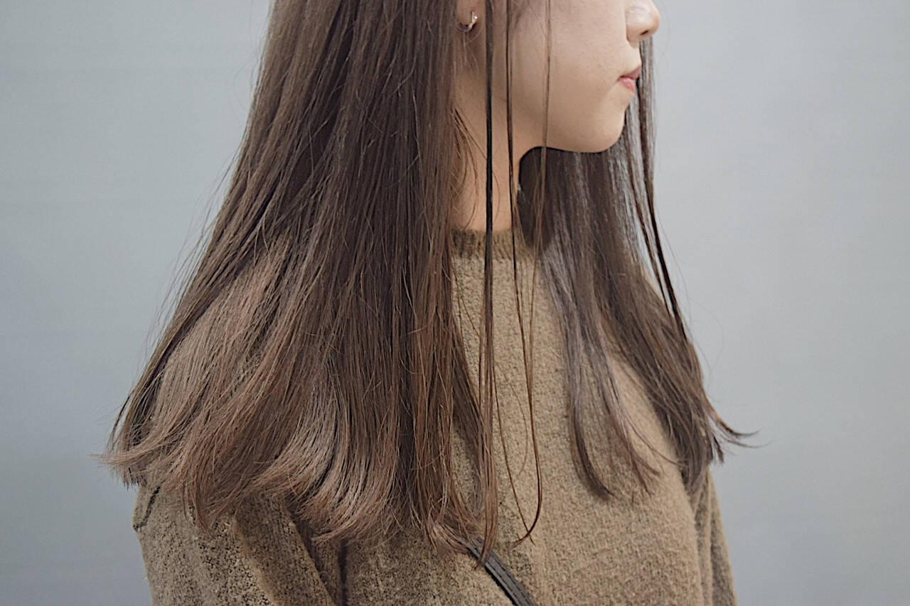 ミルクティーブラウン ホワイトベージュ ミルクティーベージュ ロングヘアスタイルや髪型の写真・画像