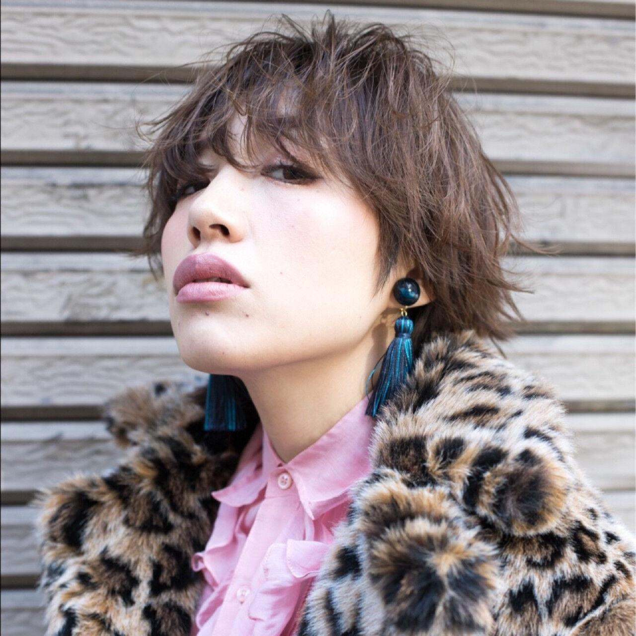 大人女子 ショート モード 小顔ヘアスタイルや髪型の写真・画像