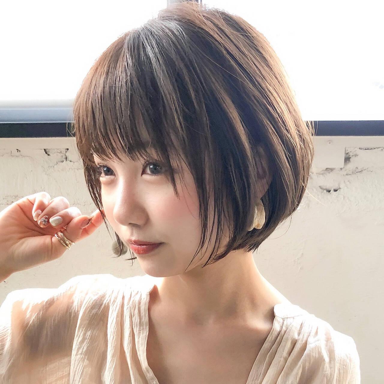 ナチュラル ショートヘア 大人かわいい アンニュイほつれヘアヘアスタイルや髪型の写真・画像