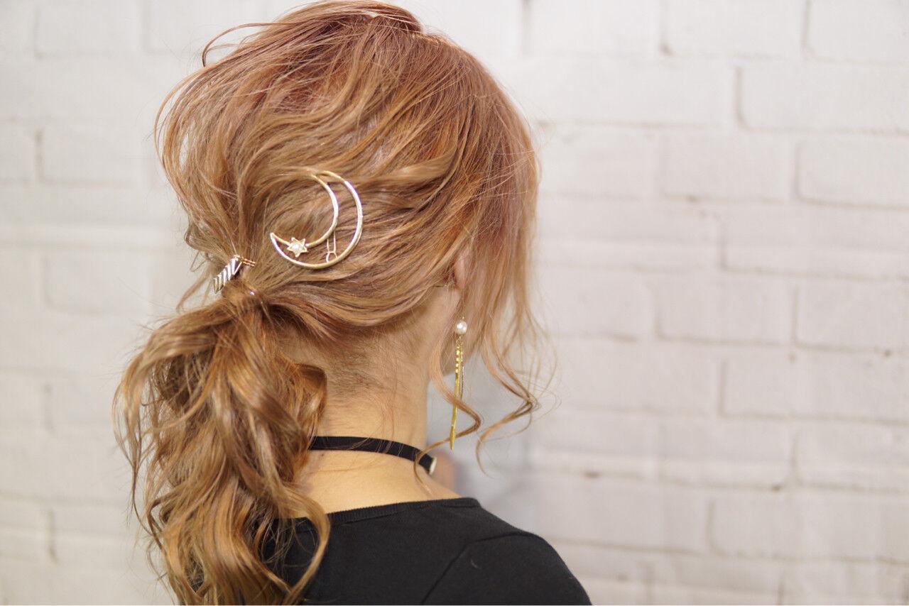 ゆるふわ 外国人風 ヘアアレンジ セミロングヘアスタイルや髪型の写真・画像