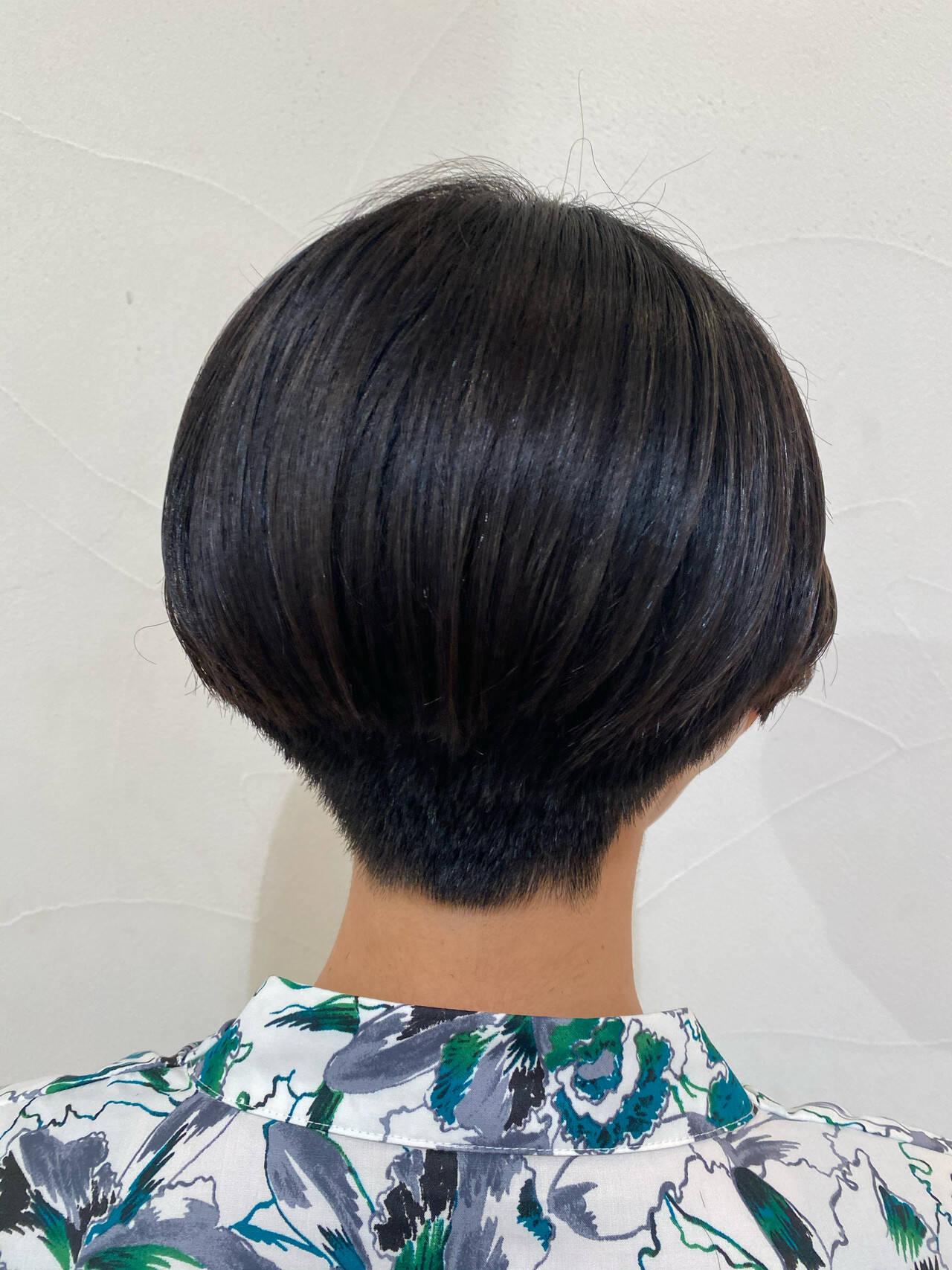 刈り上げ ショート 刈り上げショート ショートヘアヘアスタイルや髪型の写真・画像