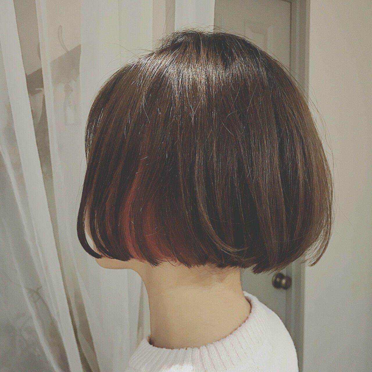 フェミニン デート 色気 ボブヘアスタイルや髪型の写真・画像