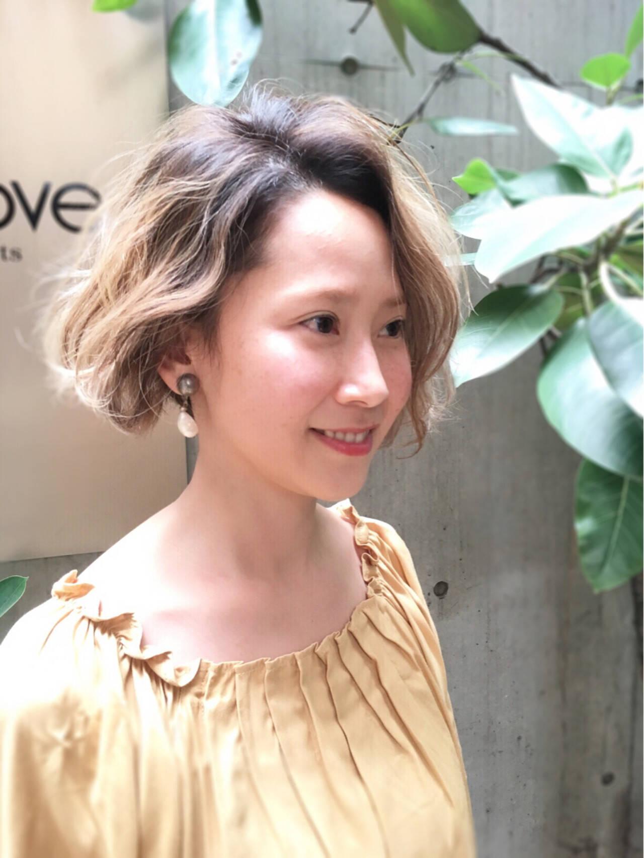 似合わせ ストリート 外国人風カラー ミルクティーヘアスタイルや髪型の写真・画像
