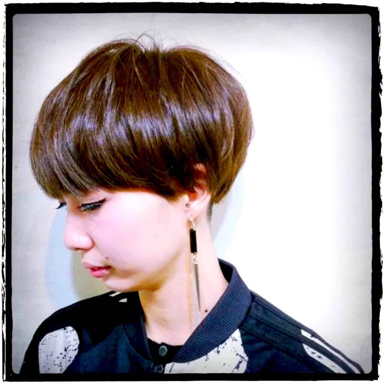 ショート ストリート モード アップスタイルヘアスタイルや髪型の写真・画像
