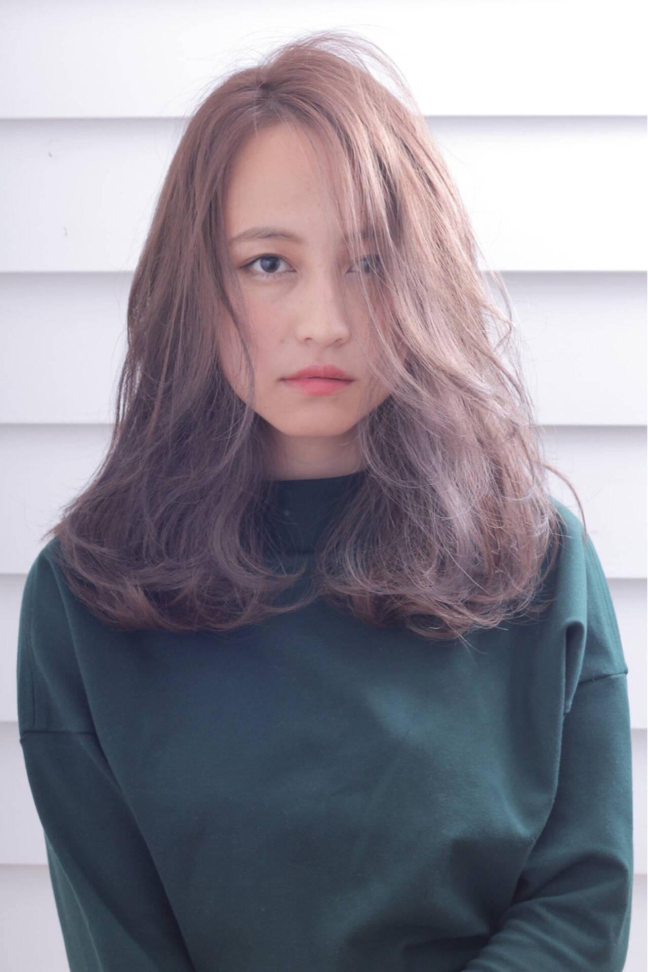 ゆるふわ 外国人風 ミディアム ナチュラルヘアスタイルや髪型の写真・画像