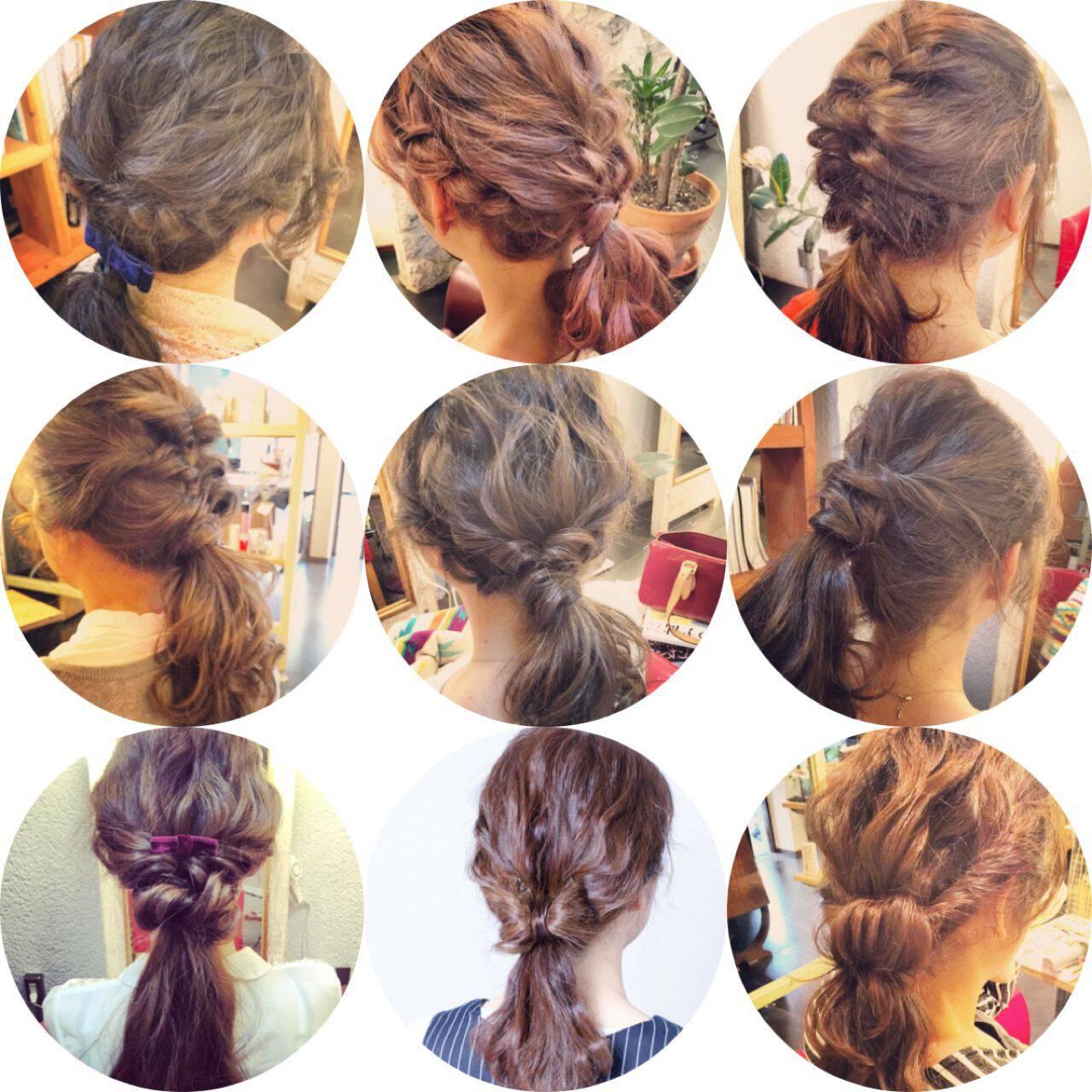 ショート ストリート 簡単ヘアアレンジ ヘアアレンジヘアスタイルや髪型の写真・画像