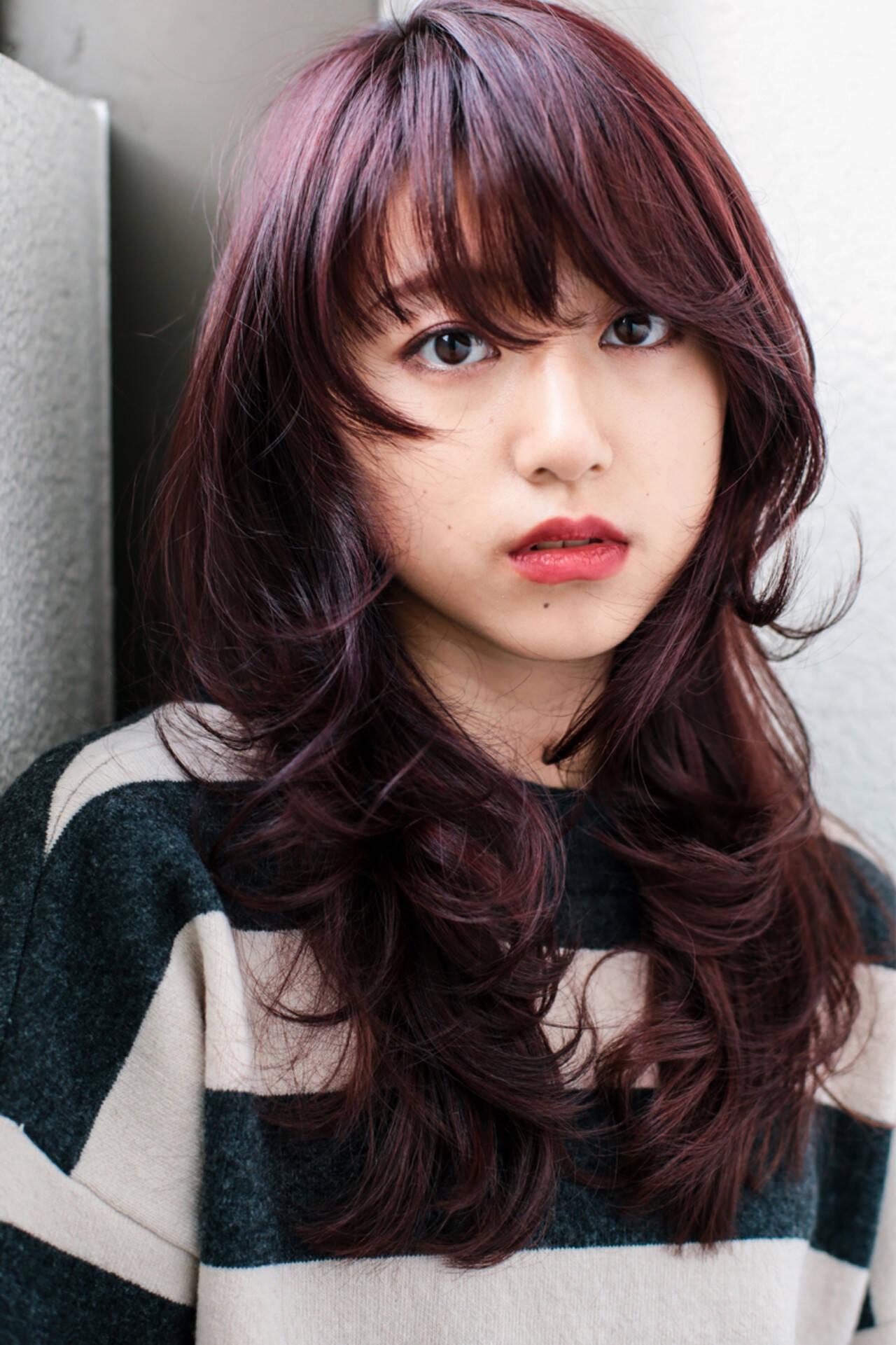 ウルフカット 大人女子 小顔 ロングヘアスタイルや髪型の写真・画像