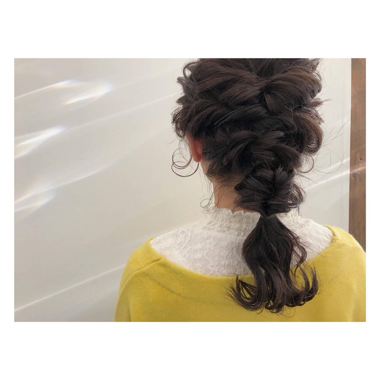 ヘアアレンジ ナチュラル セミロング 結婚式ヘアスタイルや髪型の写真・画像