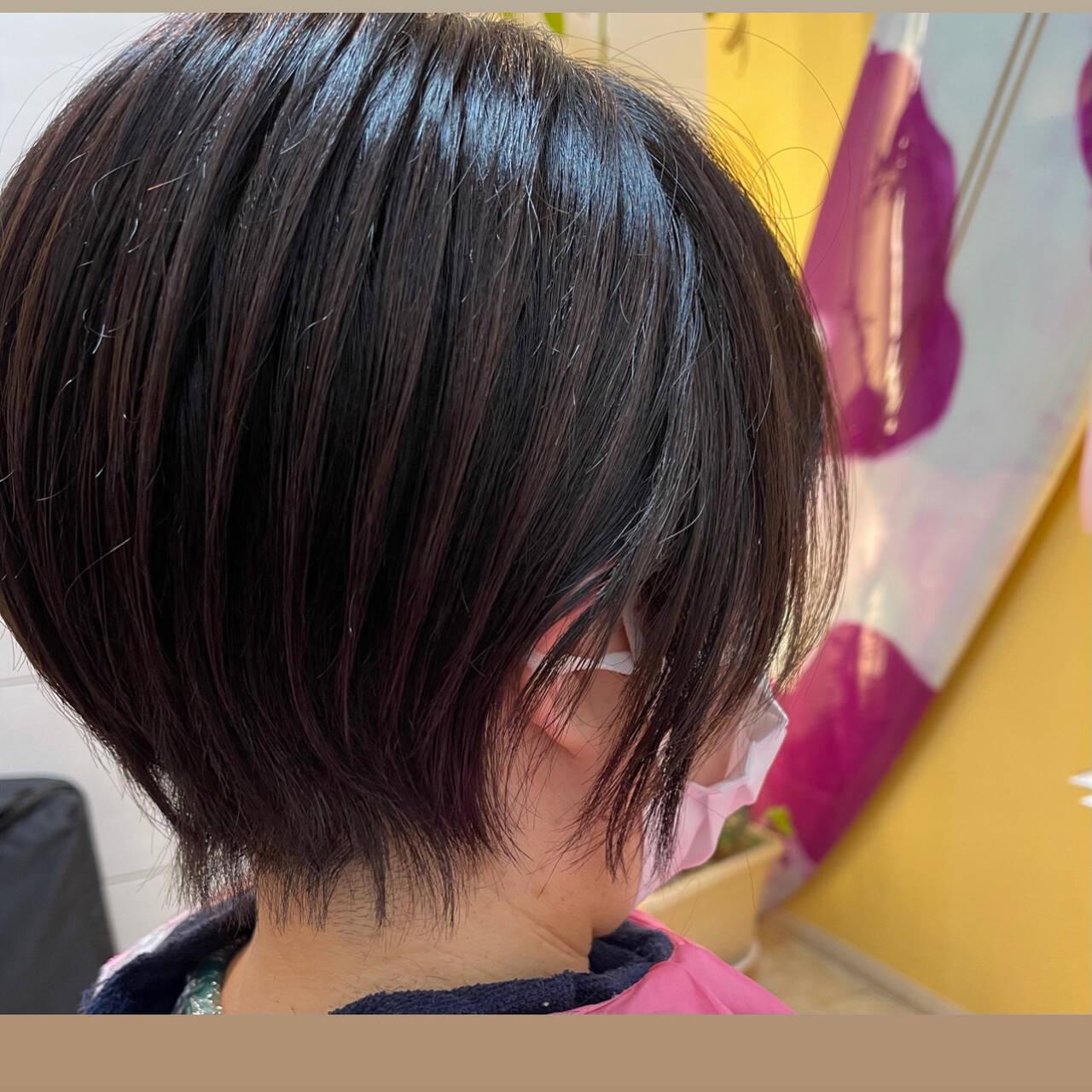 ミニボブ ショートボブ ショートヘア ウルフカットヘアスタイルや髪型の写真・画像