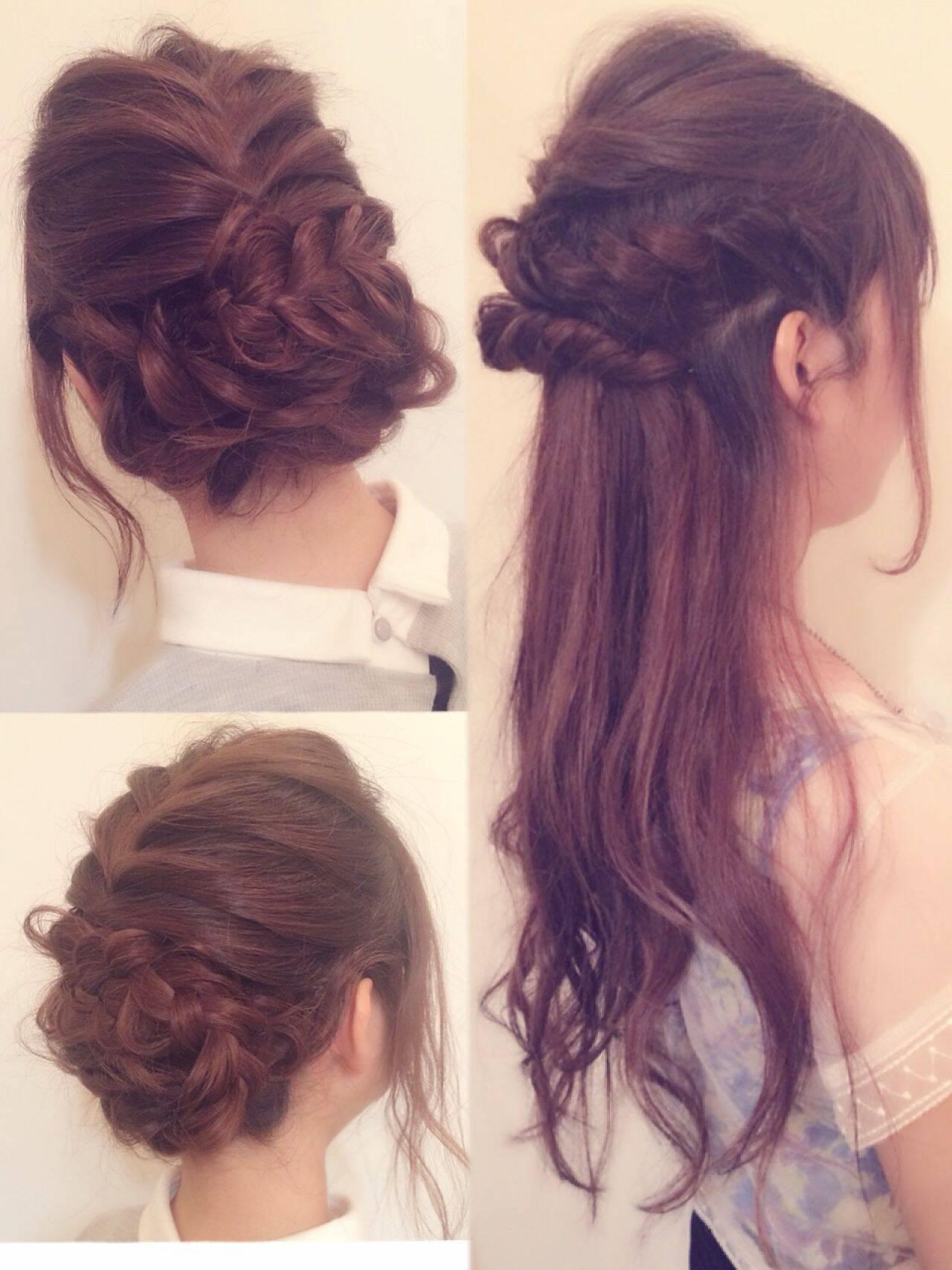 コンサバ ヘアアレンジ 愛され モテ髪ヘアスタイルや髪型の写真・画像