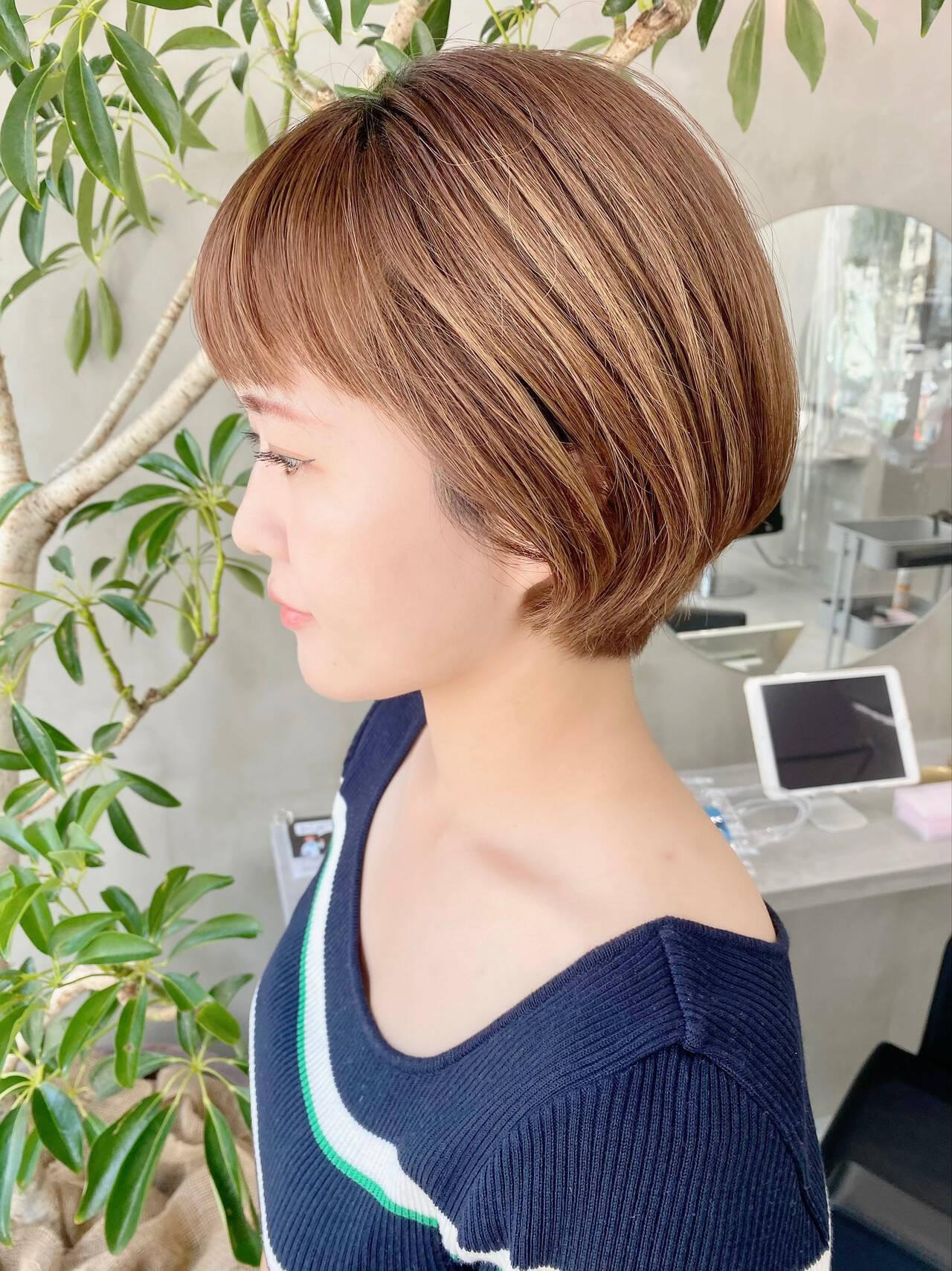 ショート オフィス ベリーショート ナチュラルヘアスタイルや髪型の写真・画像