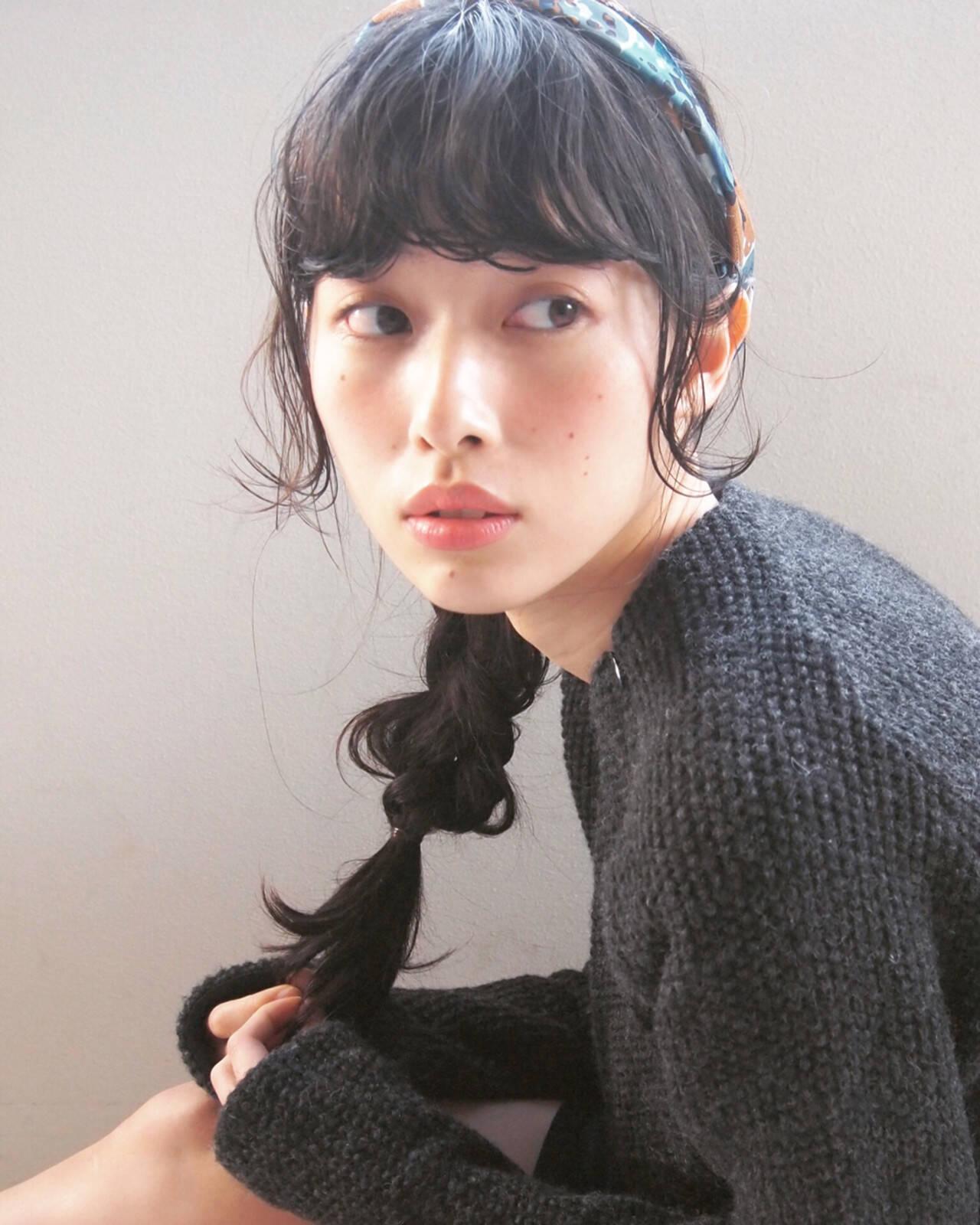 大人かわいい 簡単ヘアアレンジ ヘアアレンジ 暗髪ヘアスタイルや髪型の写真・画像