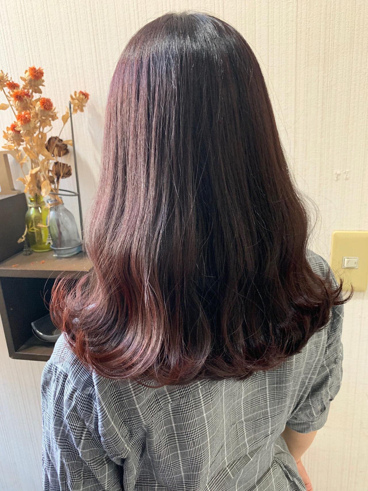 秋ブラウン 大人女子 ナチュラル ミディアムヘアスタイルや髪型の写真・画像