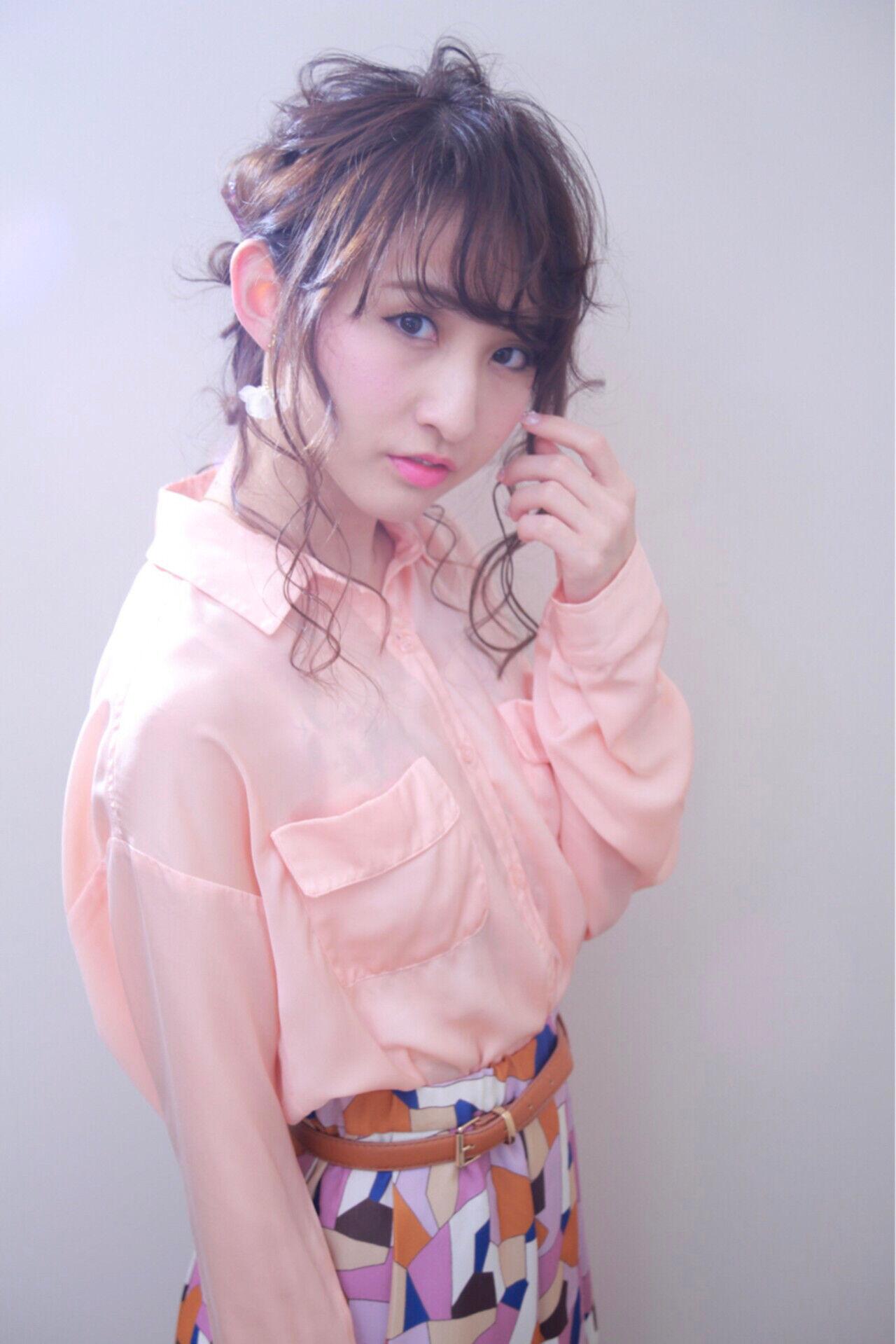 ロング ヘアアレンジ 編み込み 大人女子ヘアスタイルや髪型の写真・画像