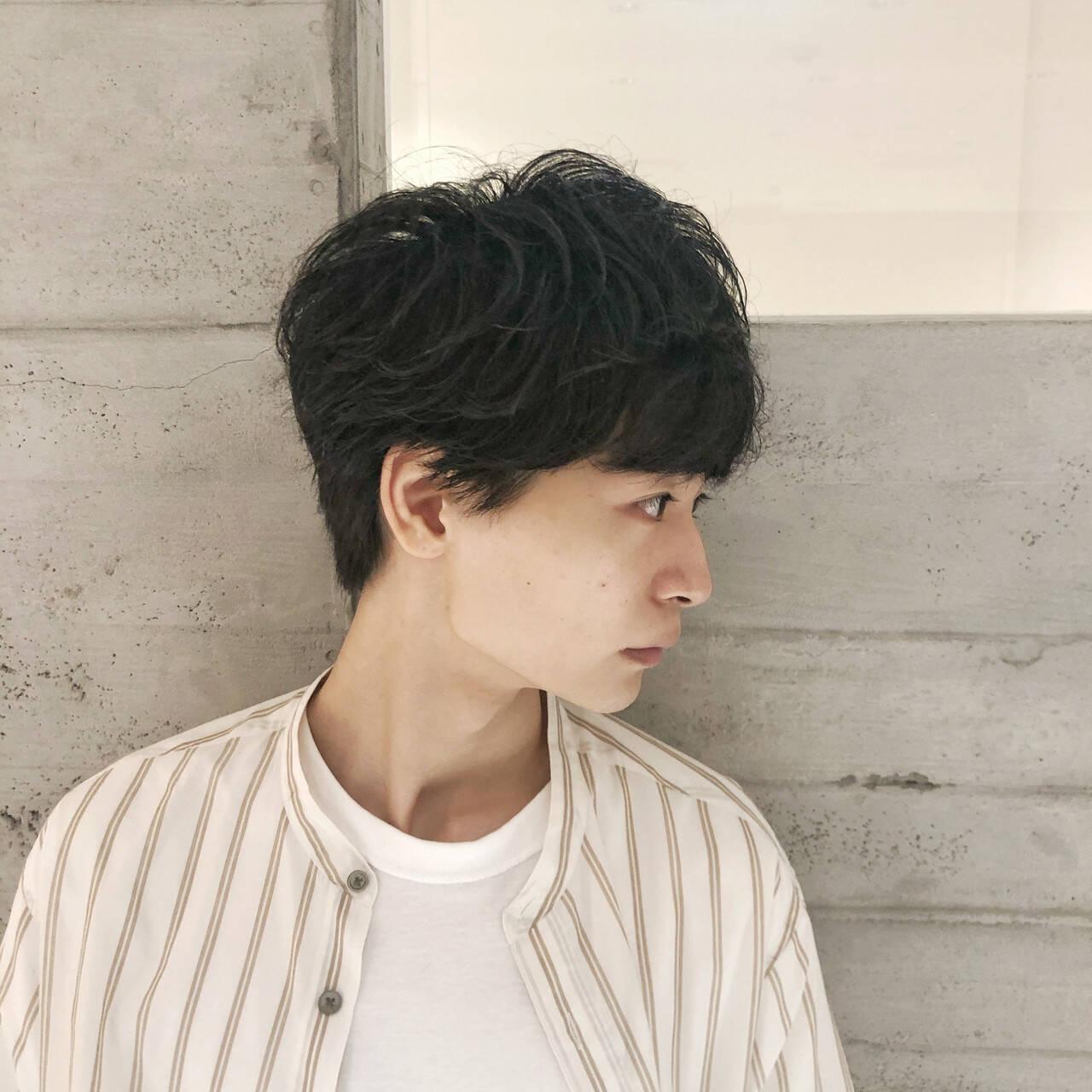 ショートヘア 韓国風ヘアー ナチュラル マッシュヘアヘアスタイルや髪型の写真・画像