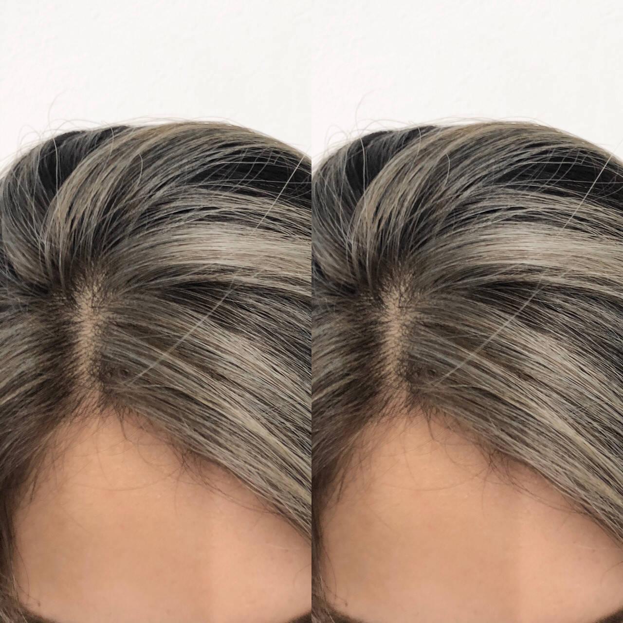 ストリート ホワイトベージュ 外国人風カラー ロングヘアスタイルや髪型の写真・画像