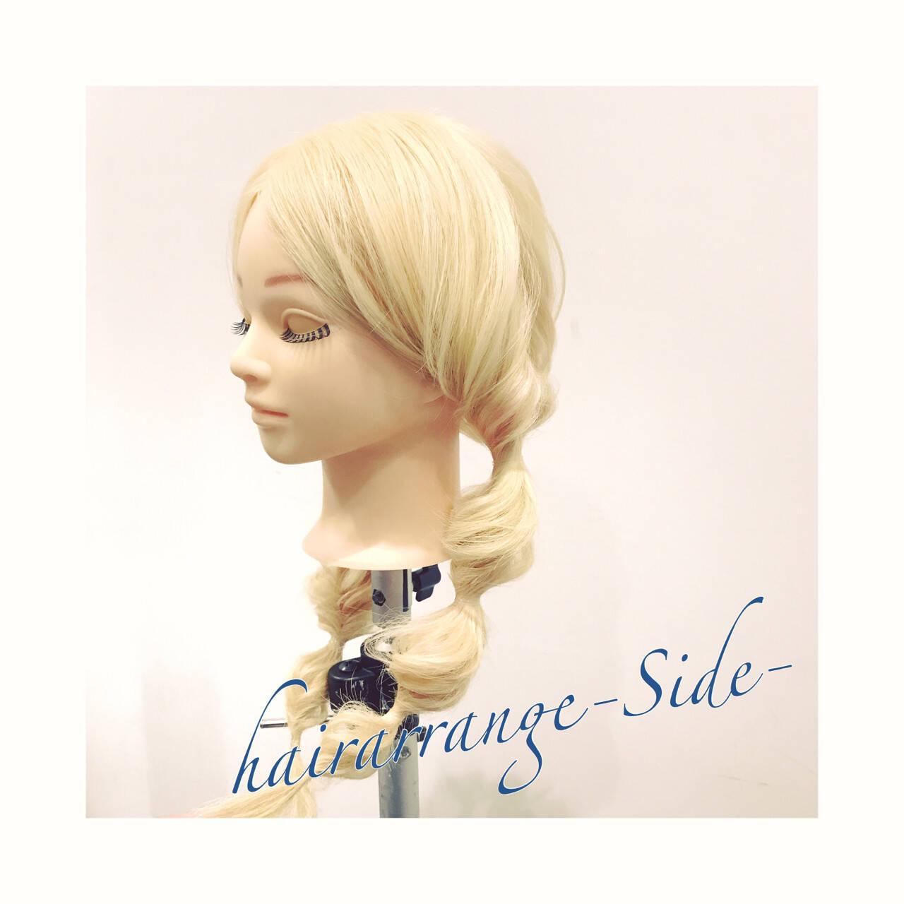 くるりんぱ 簡単ヘアアレンジ ツインテール ヘアアレンジヘアスタイルや髪型の写真・画像