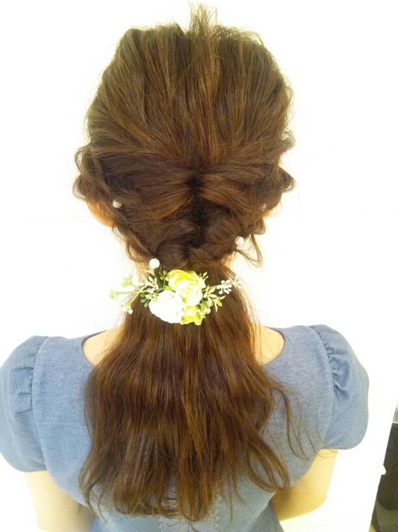 ヘアアレンジ ロング ブライダル パーティヘアスタイルや髪型の写真・画像