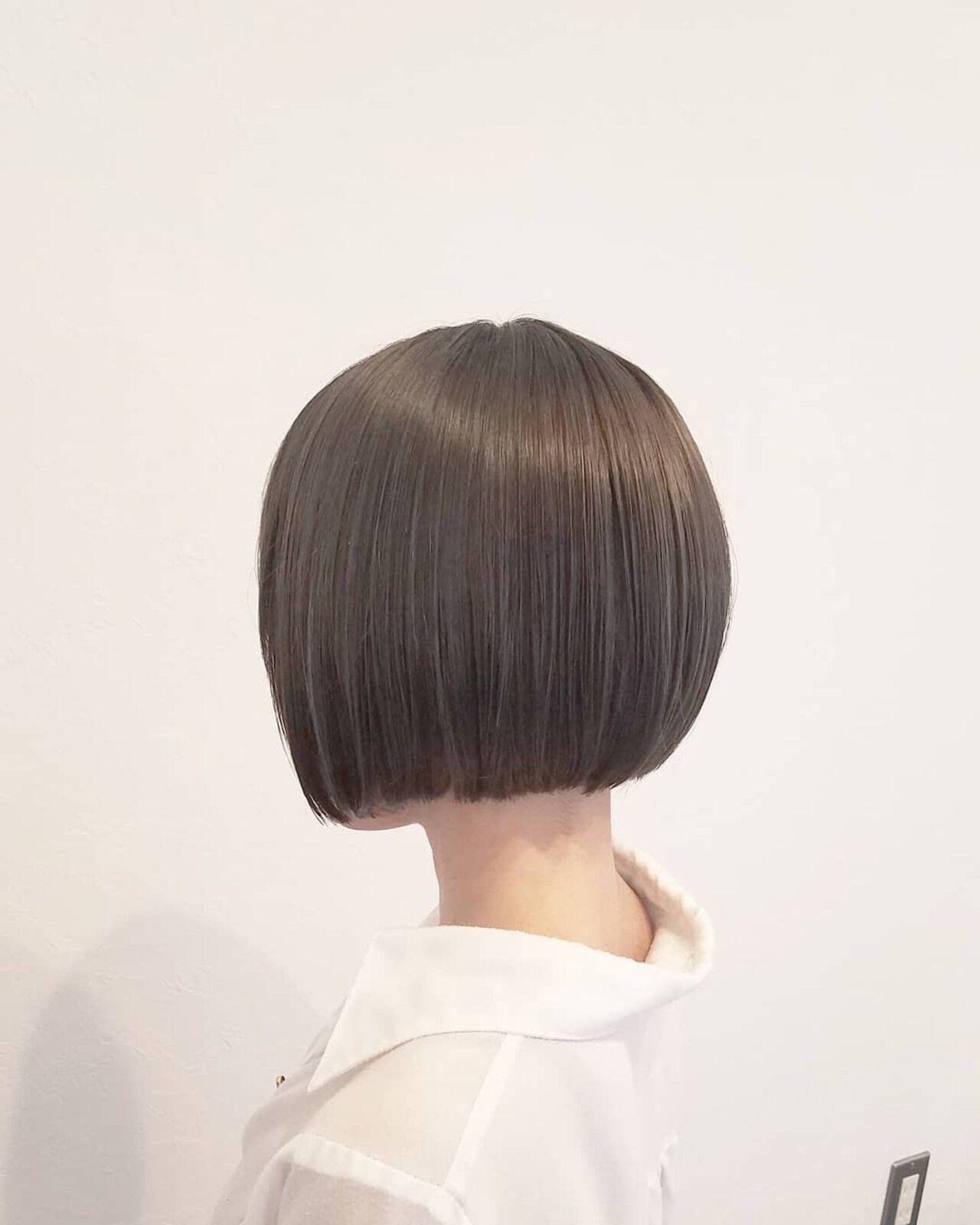 ナチュラル ボブ 夏 オフィスヘアスタイルや髪型の写真・画像