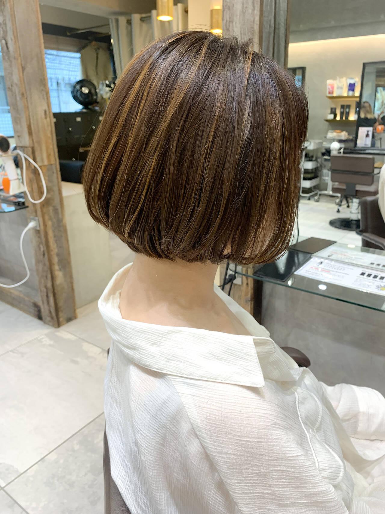 ナチュラル ショート 外国人風カラー 透明感カラーヘアスタイルや髪型の写真・画像