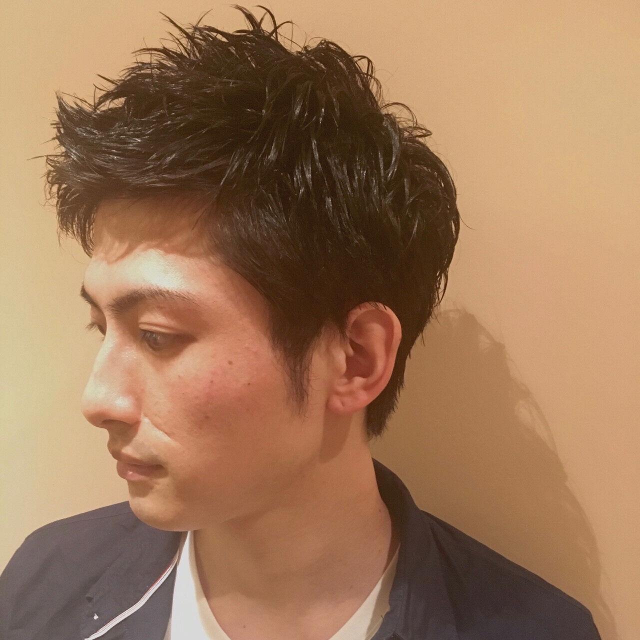 ナチュラル メンズスタイル メンズカット メンズショートヘアスタイルや髪型の写真・画像
